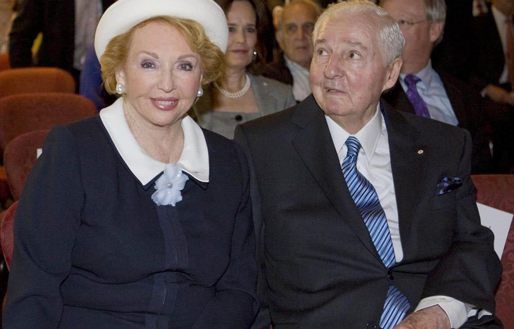 Jacqueline Desmarais et son mari, Paul Desmarais