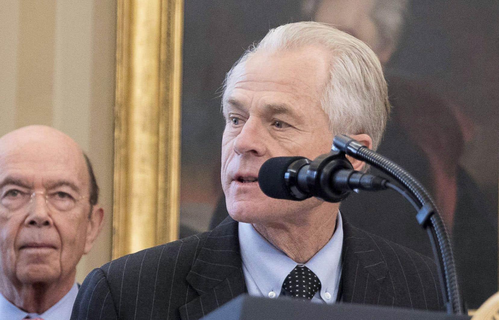 Selon le responsable du commerce à la Maison-Blanche, Peter Navarro, établir une exception pour un pays créerait une pente glissante.