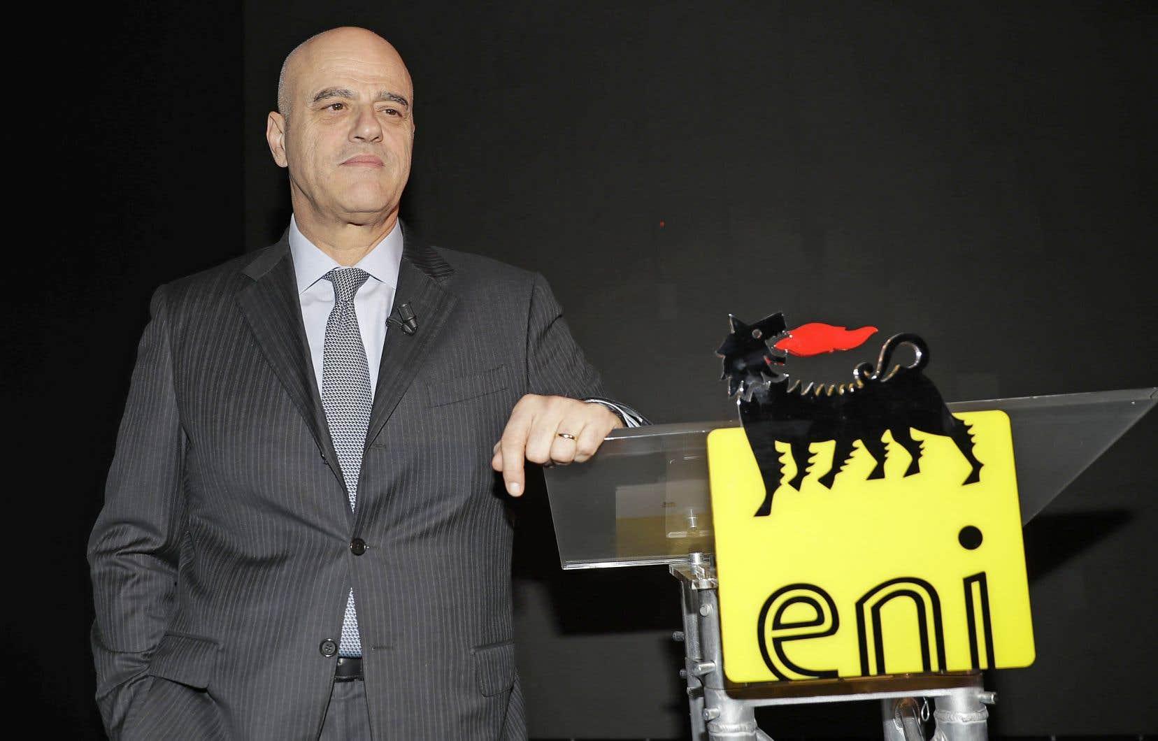 La poursuite vise plusieurs patrons actuels et anciens des deux entreprises, dont le président et chef de la direction d'Eni, Claudio Descalzi.