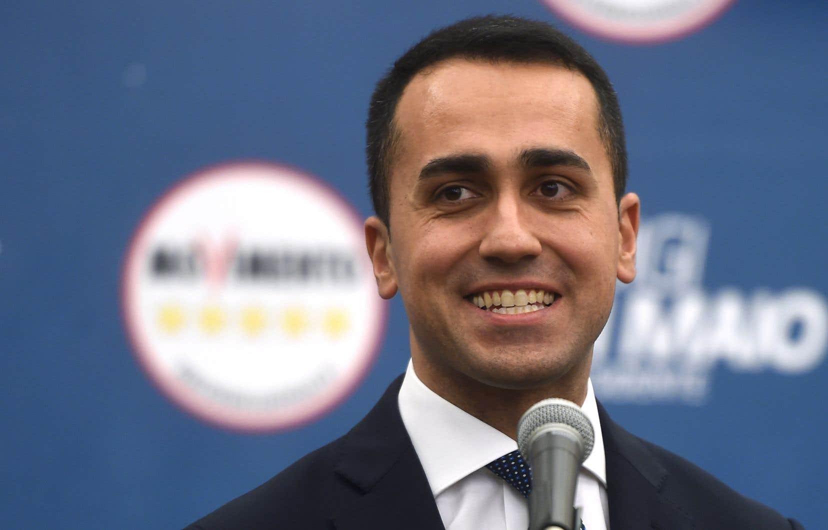 Le leader du Mouvement 5 étoiles, Luigi Di Maio, s'est adressé aux journalistes, lundi.