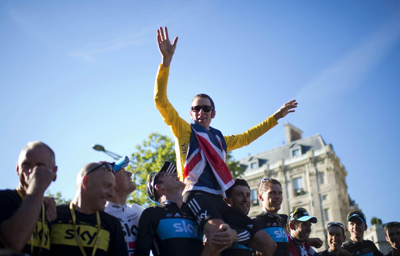 Le coureur Bradley Wiggins est accusé d'avoir utilisé des corticoïdes pour améliorer ses performances, notamment sur le Tour de France 2012 qu'il a remporté.