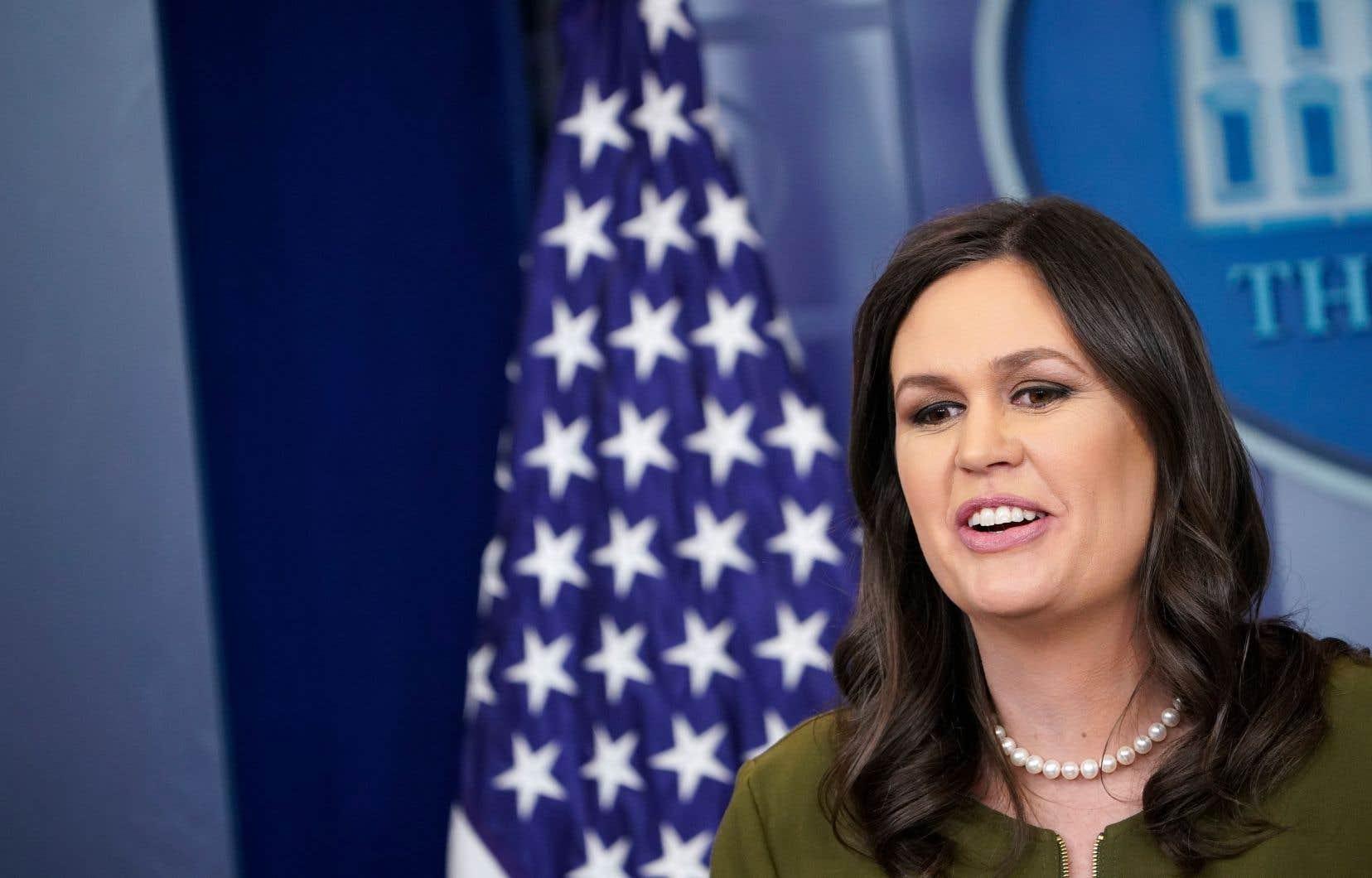 Sarah Sanders, porte-parole du président Donald Trump