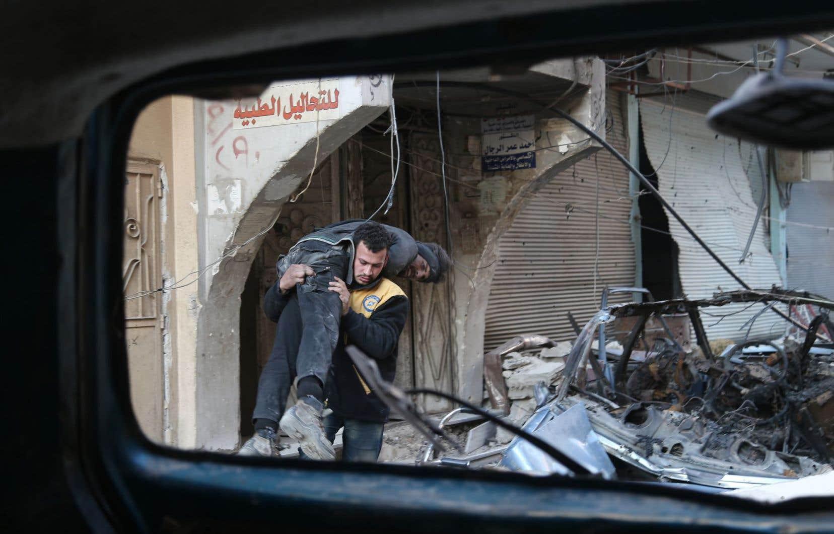 Dans la Ghouta orientale, le régime syrien, soutenu par la Russie, a accéléré sa reprise territoriale.