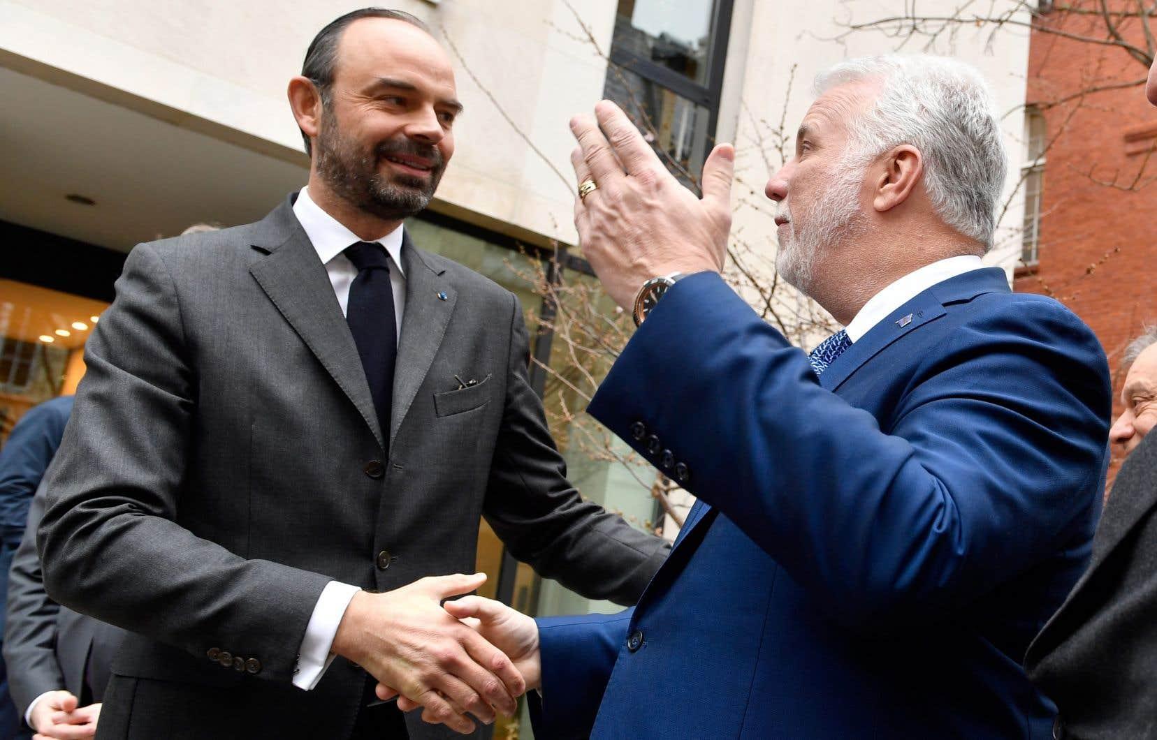 Philippe Couillard a visité son vis-à-vis Édouard Philippedans le cadre des rencontres alternées des deux premiers ministres, une tradition depuis 40 ans.