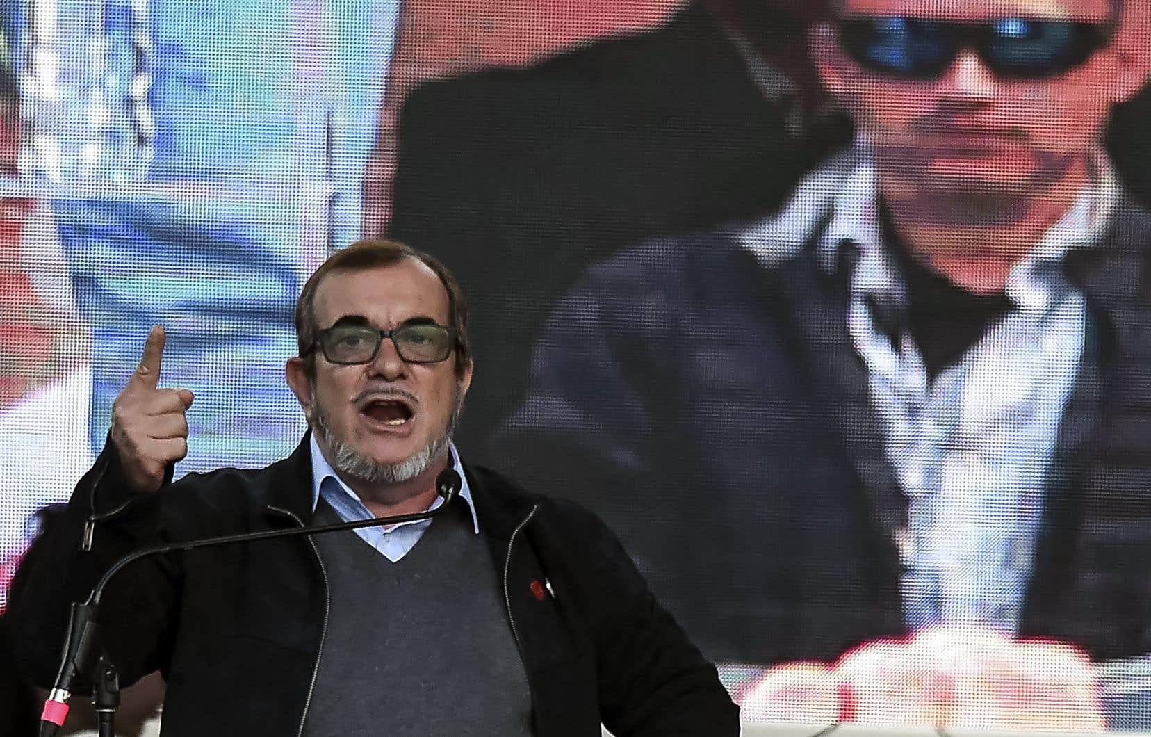 Rodrigo Londoño, au lancement de sa campagne, le 27 janvier dernier