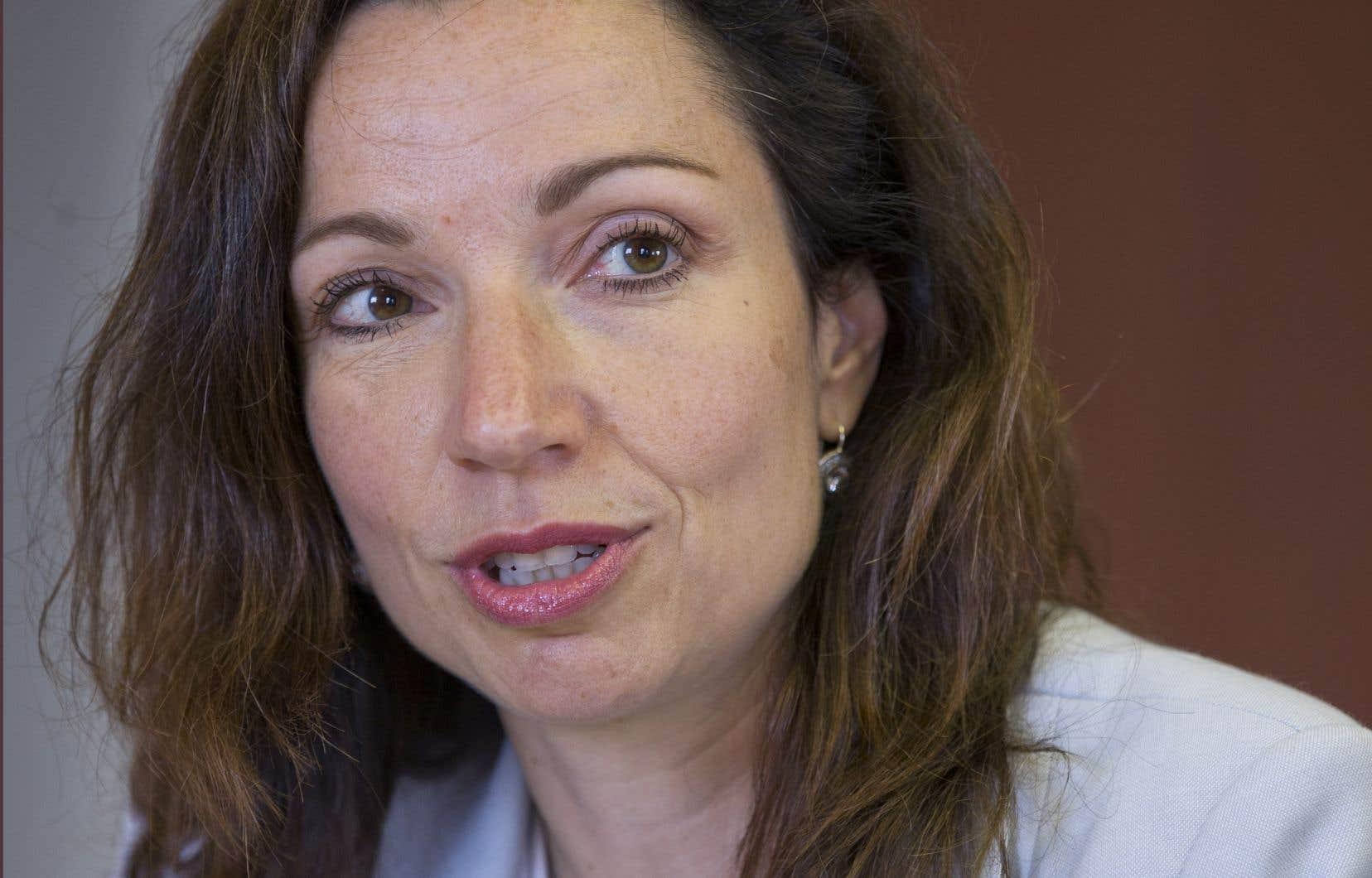 L'actuelle chef du Bloc québécois, Martine Ouellet