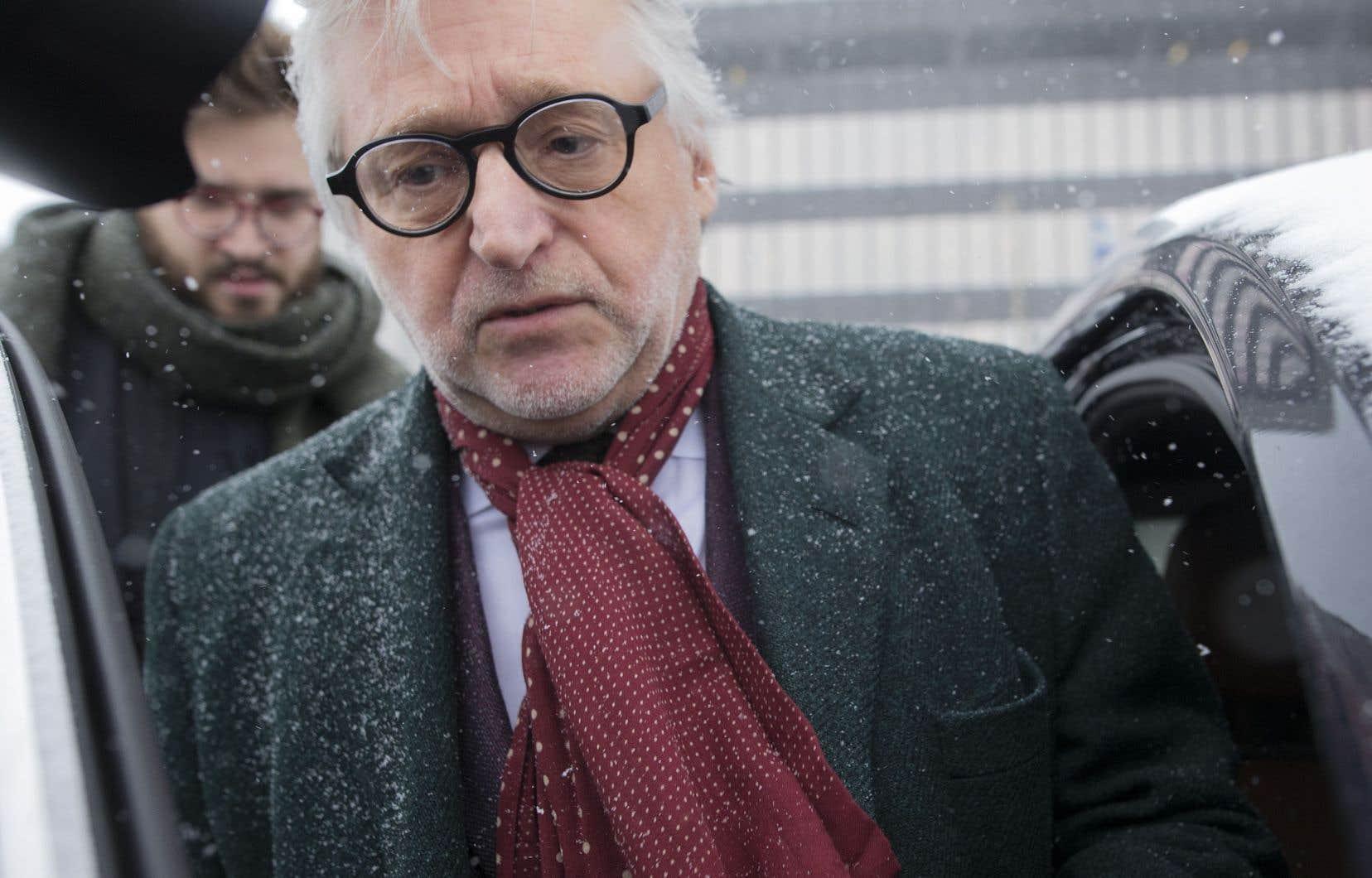 Le 8 février dernier, lors de sa première apparition publique suivant les révélations, Gilbert Rozon a nié les allégations d'inconduites sexuelles.