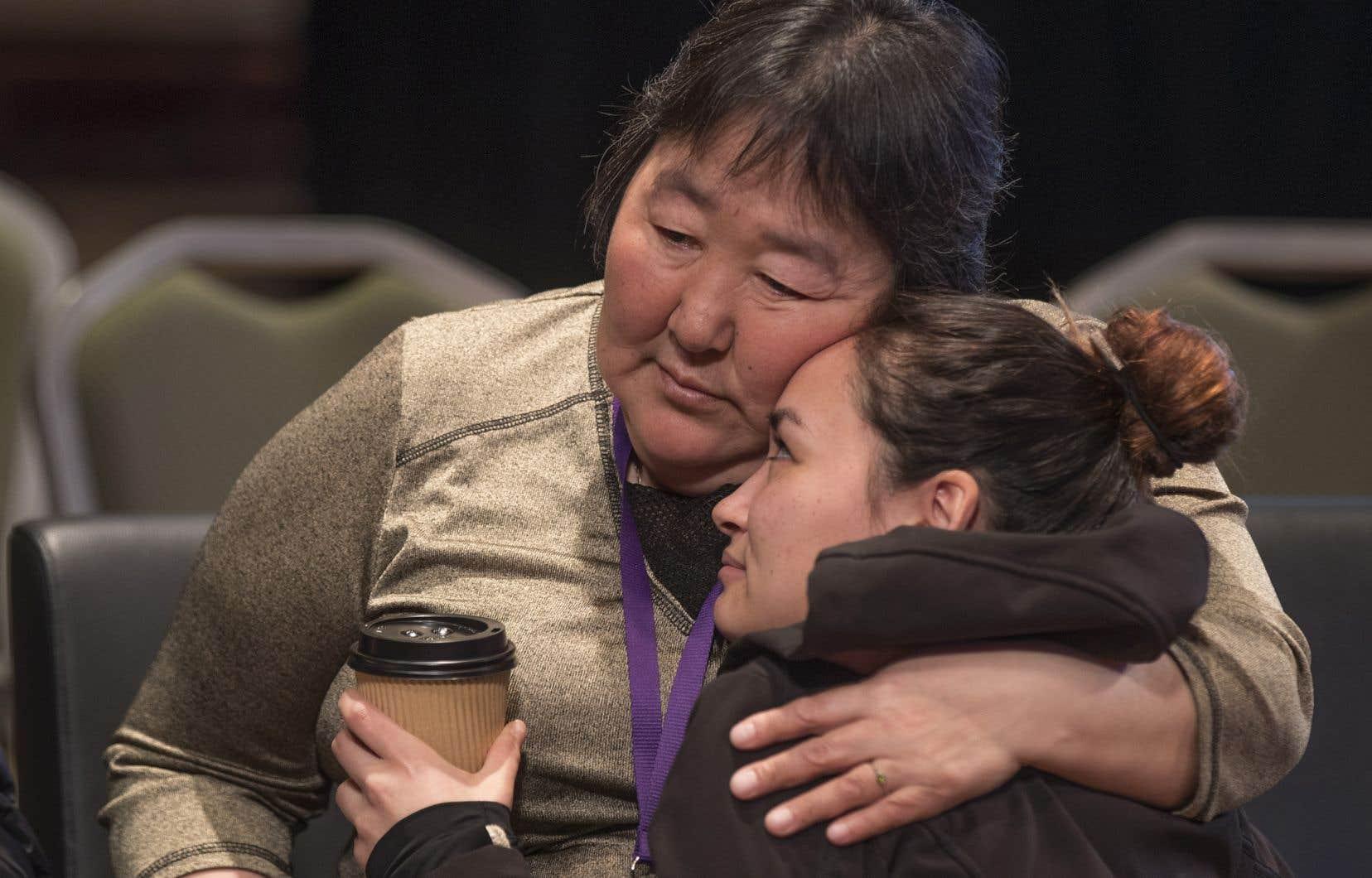 Des témoignages émouvants ont été entendus jeudi, à Montréal, dans le cadre des consultations de l'Enquête nationale sur les femmes et les filles autochtones disparues et assassinées.