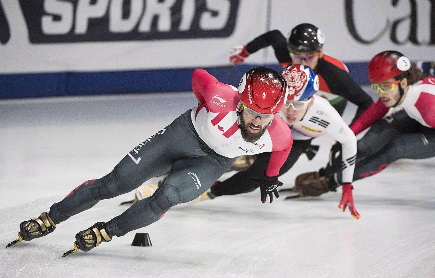 Le patineur québécois Charles Hamelin, samedi, à Montréal