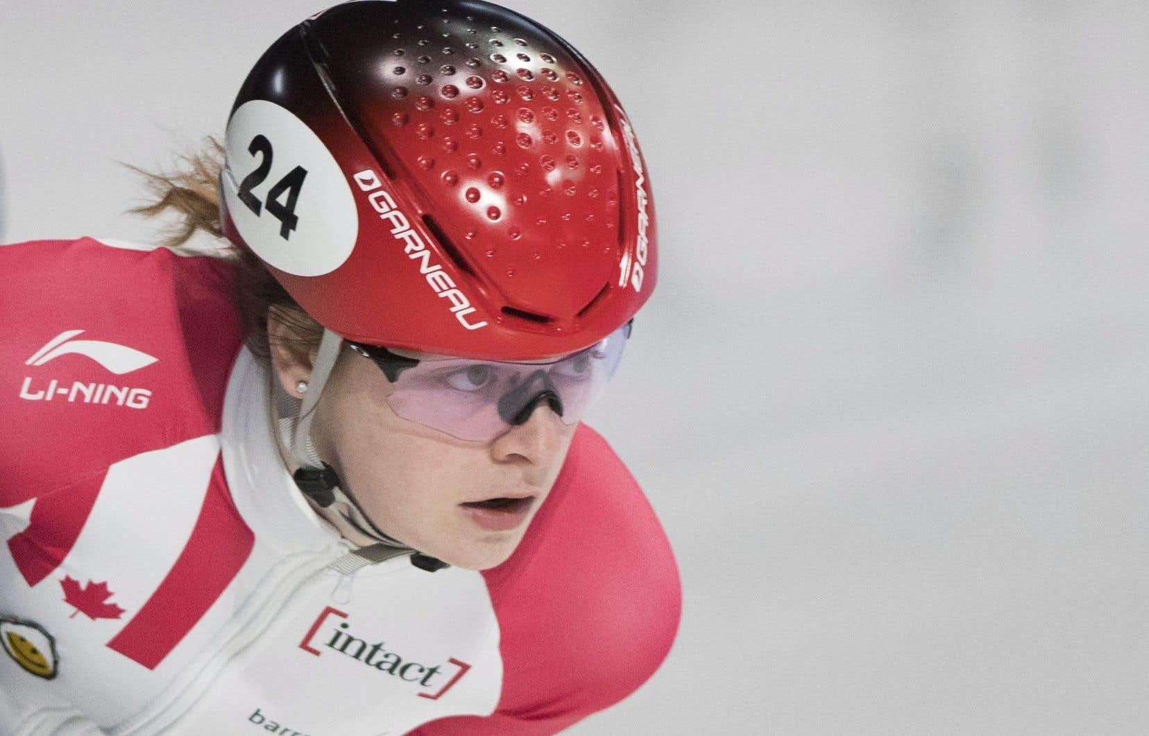 Marianne St-Gelais a chuté en demi-finale du 1500m