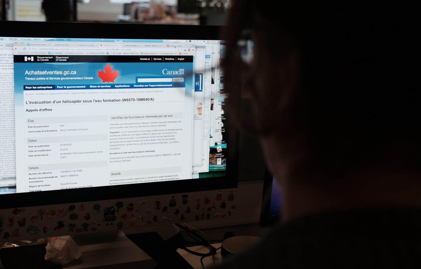Cet appel d'offres, qui figure dans la version française du site Web du gouvernement du Canada, ne représente qu'une fraction des cas de traductions bancales recensés.