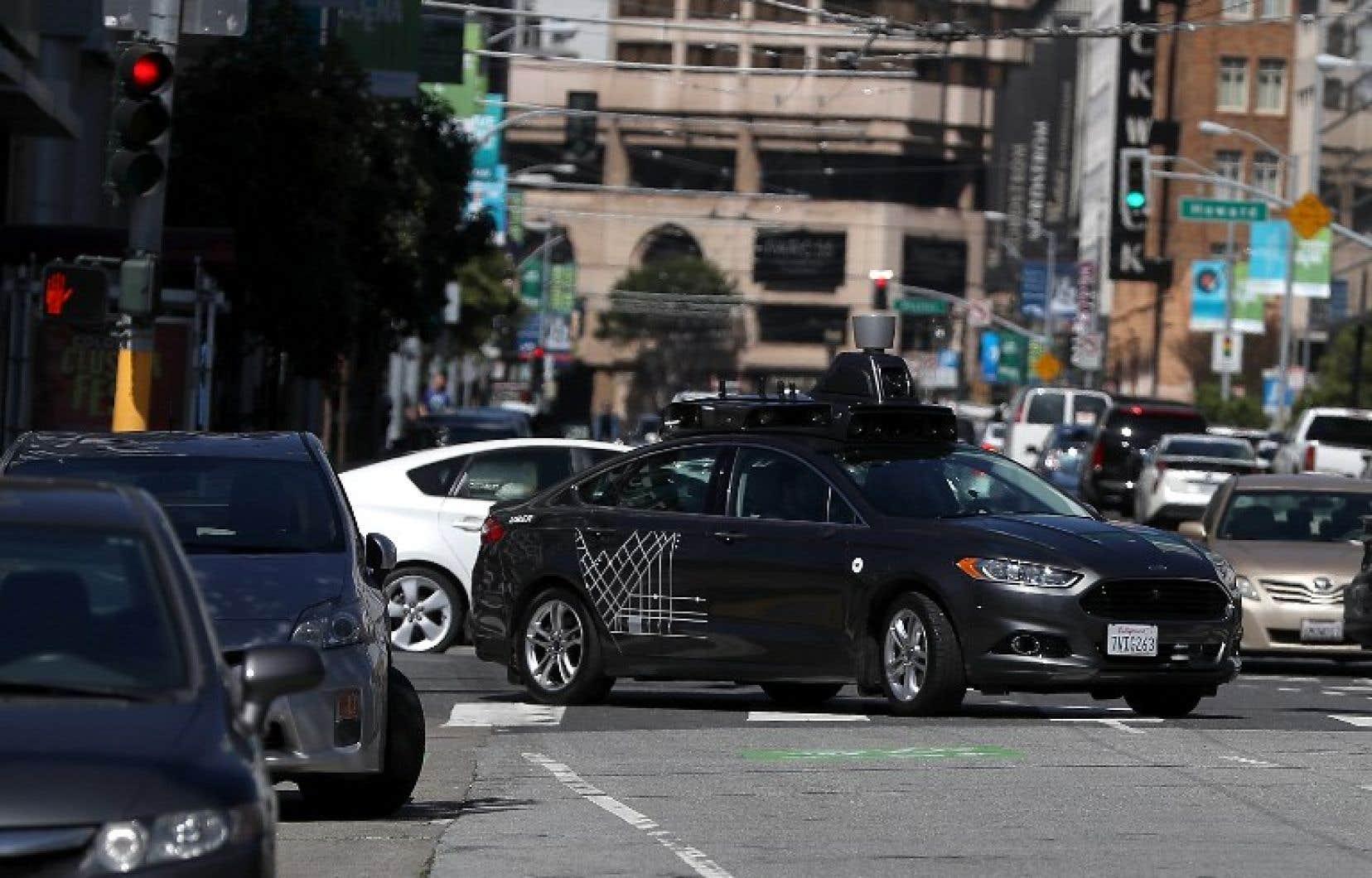 Un véhicule autonome d'Uber