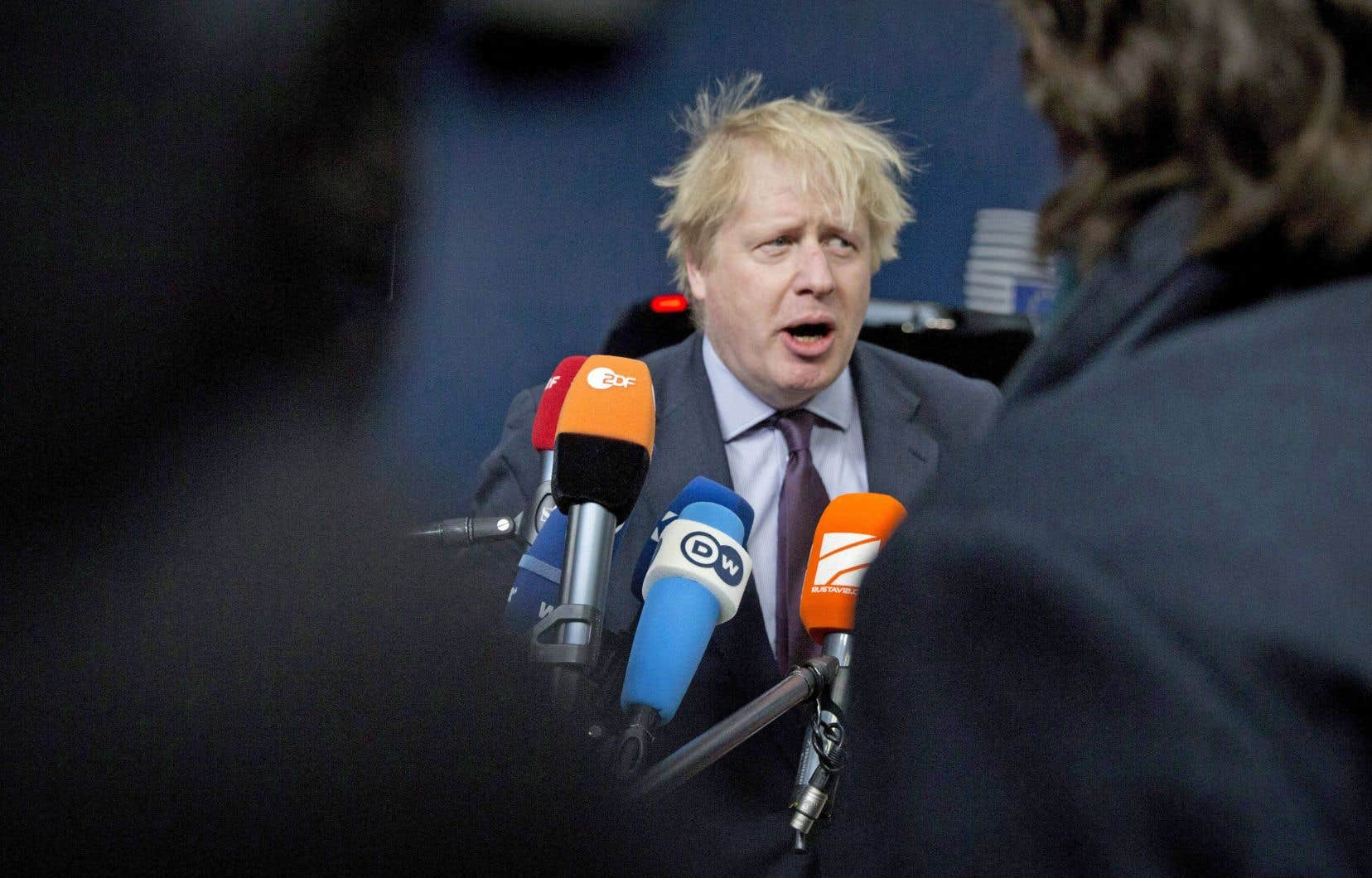 Le chef de la diplomatie britannique, Boris Johnson