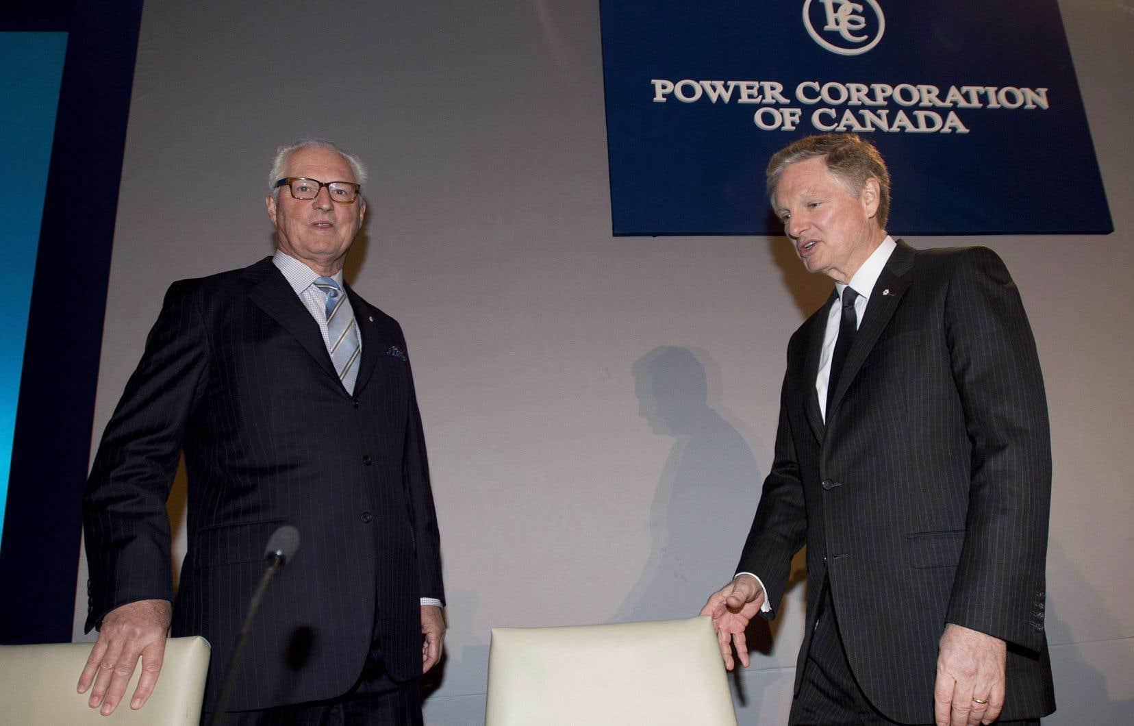Le président du conseil et co-chef de la direction de Power Corporation,Paul Desmarais Jr (à droite), et André Desmarais, président délégué du conseil, président et co-chef de la direction