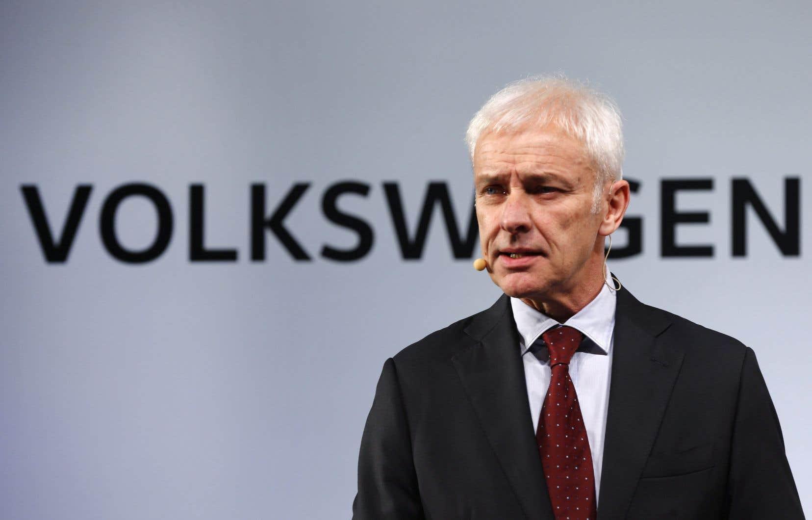 Dans un entretien au magazine «Spiegel», Matthias Müller a déclaré ne pas comprendre l'émoi suscité en Allemagne par les rémunérations de chefs d'entreprise.