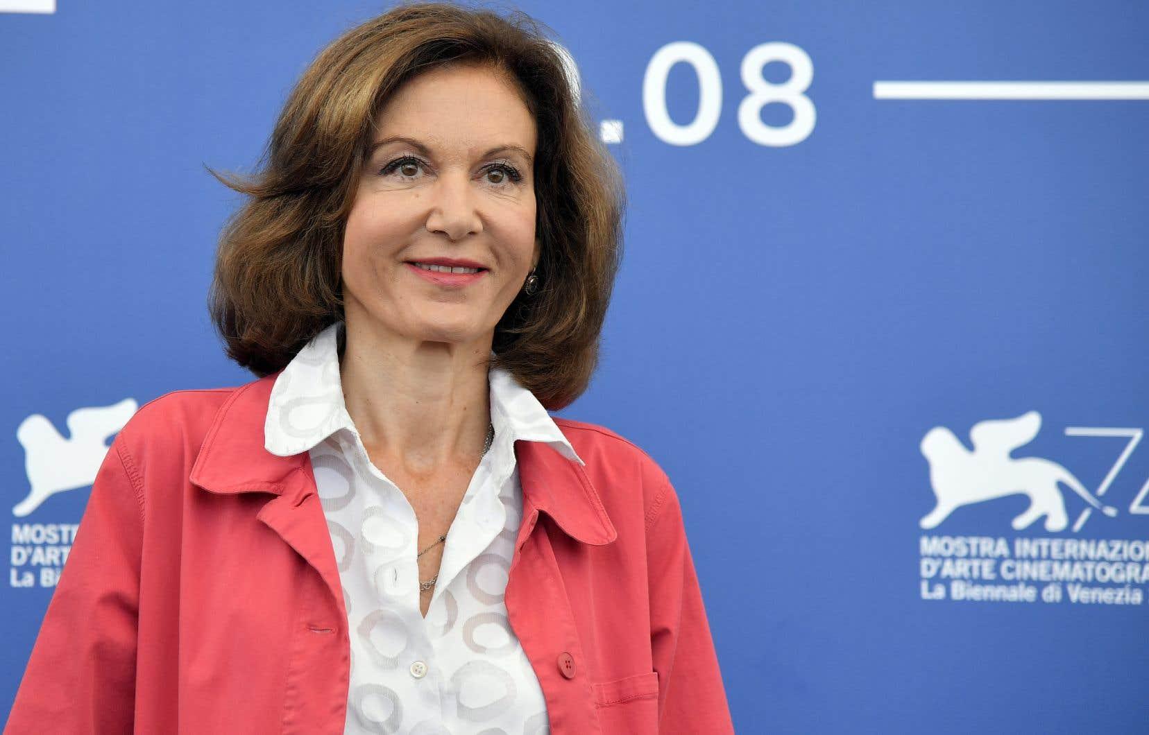 La réalisatrice française Anne Fontaine lors de la présentation de son film «Marvin ou la Belle éducation», au 74e Festival du film de Venise, en Italie