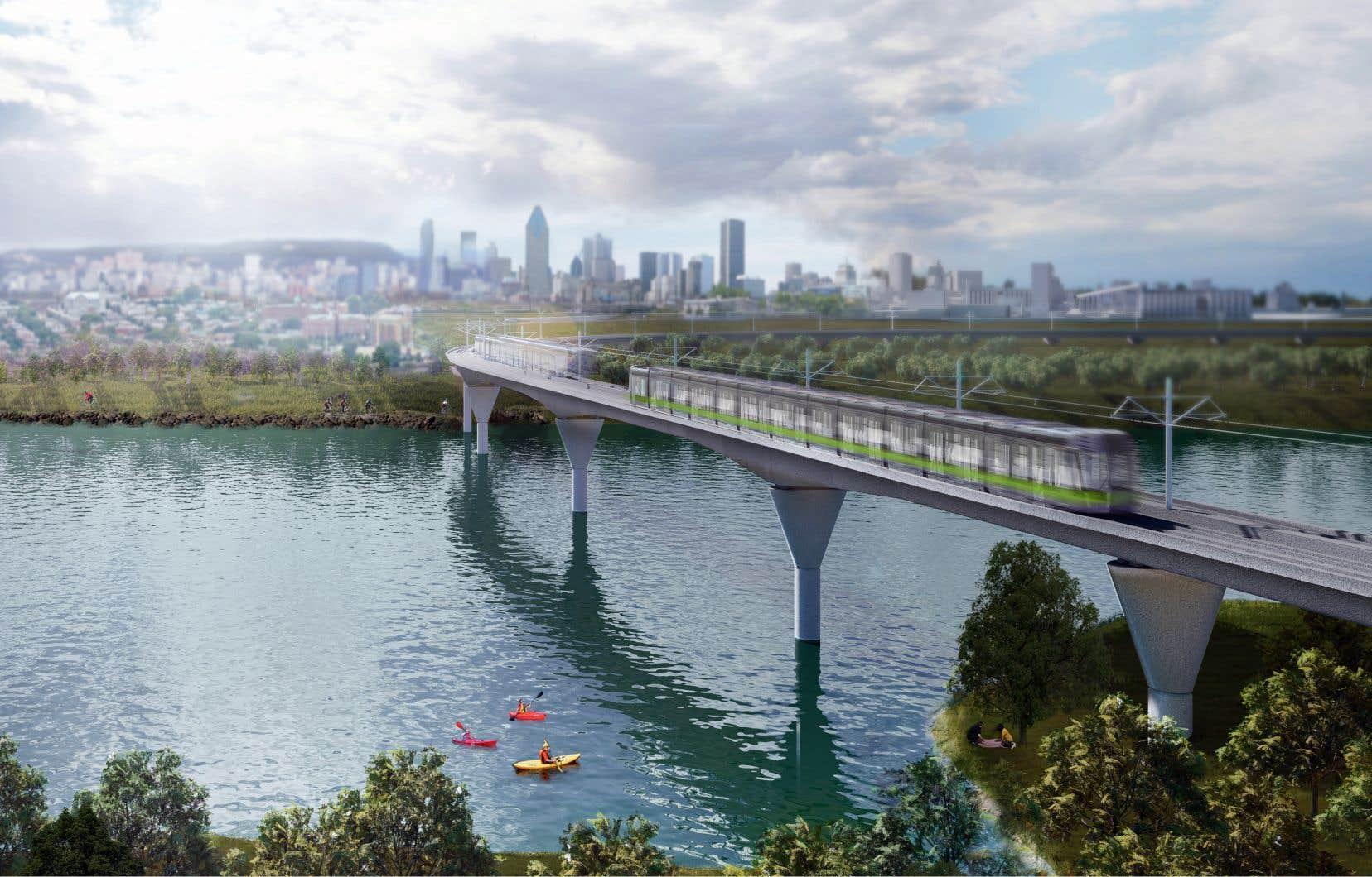 Selon la Caisse, le REM revient «quatre fois à cinq fois moins cher» que le réseau de trains et de métro pour les municipalités.