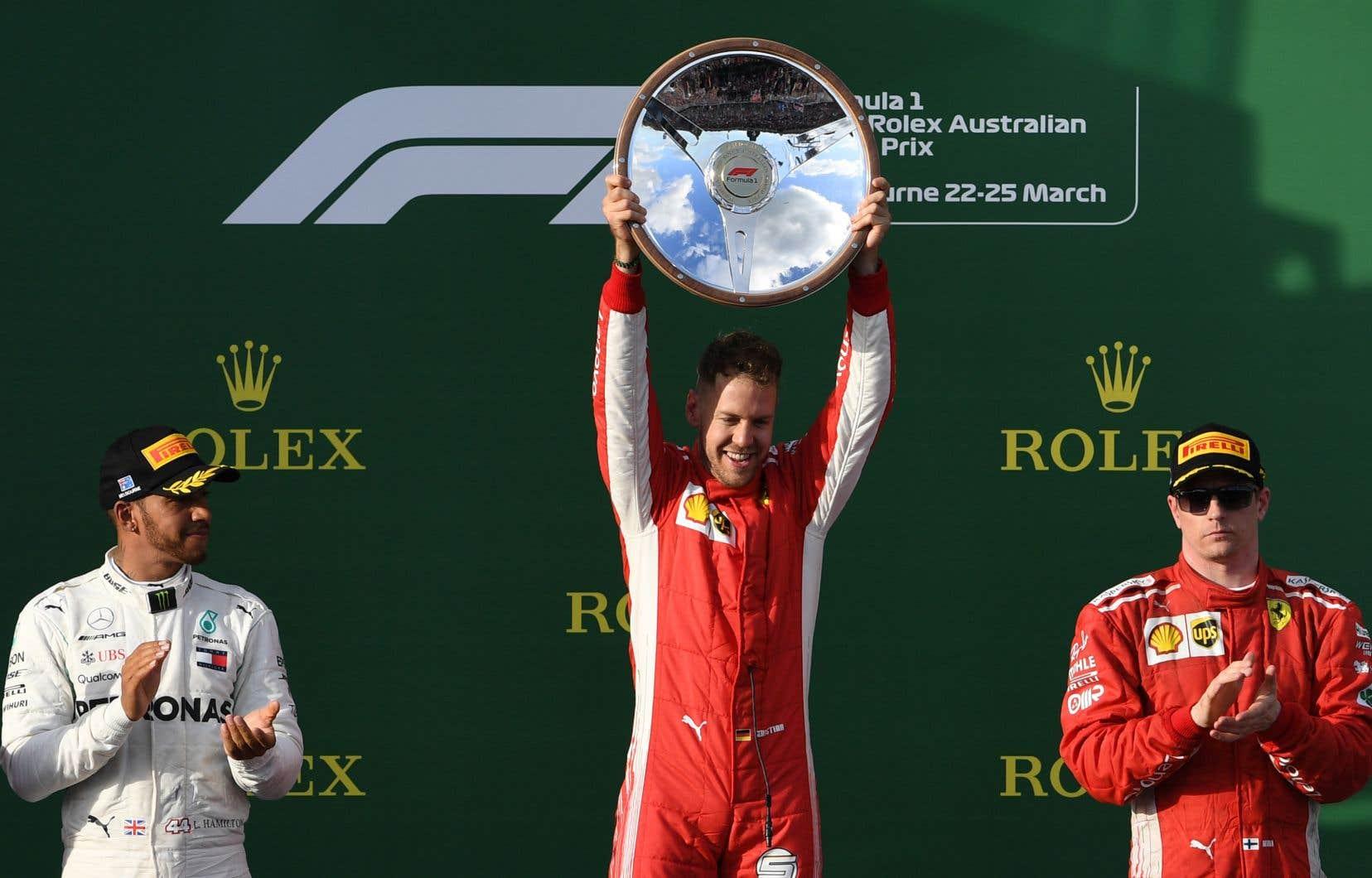 Sebastian Vettel a profité de circonstances heureuses pour remporter le premier Grand Prix de la saison 2018 de Formule 1 devant son grand rival Lewis Hamilton pourtant parti en position de tête.