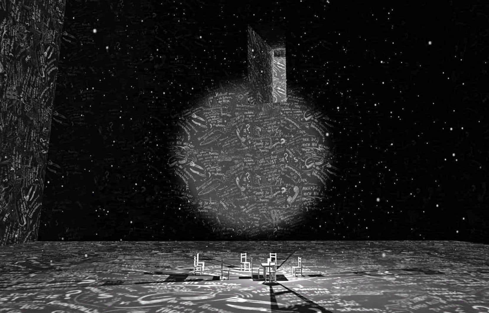 «Chalkroom» est une œuvre de réalité virtuelle créée par Laurie Anderson, artiste multimédia, et Hsin-Chien Huang, artiste spécialiste des techniques mixtes.