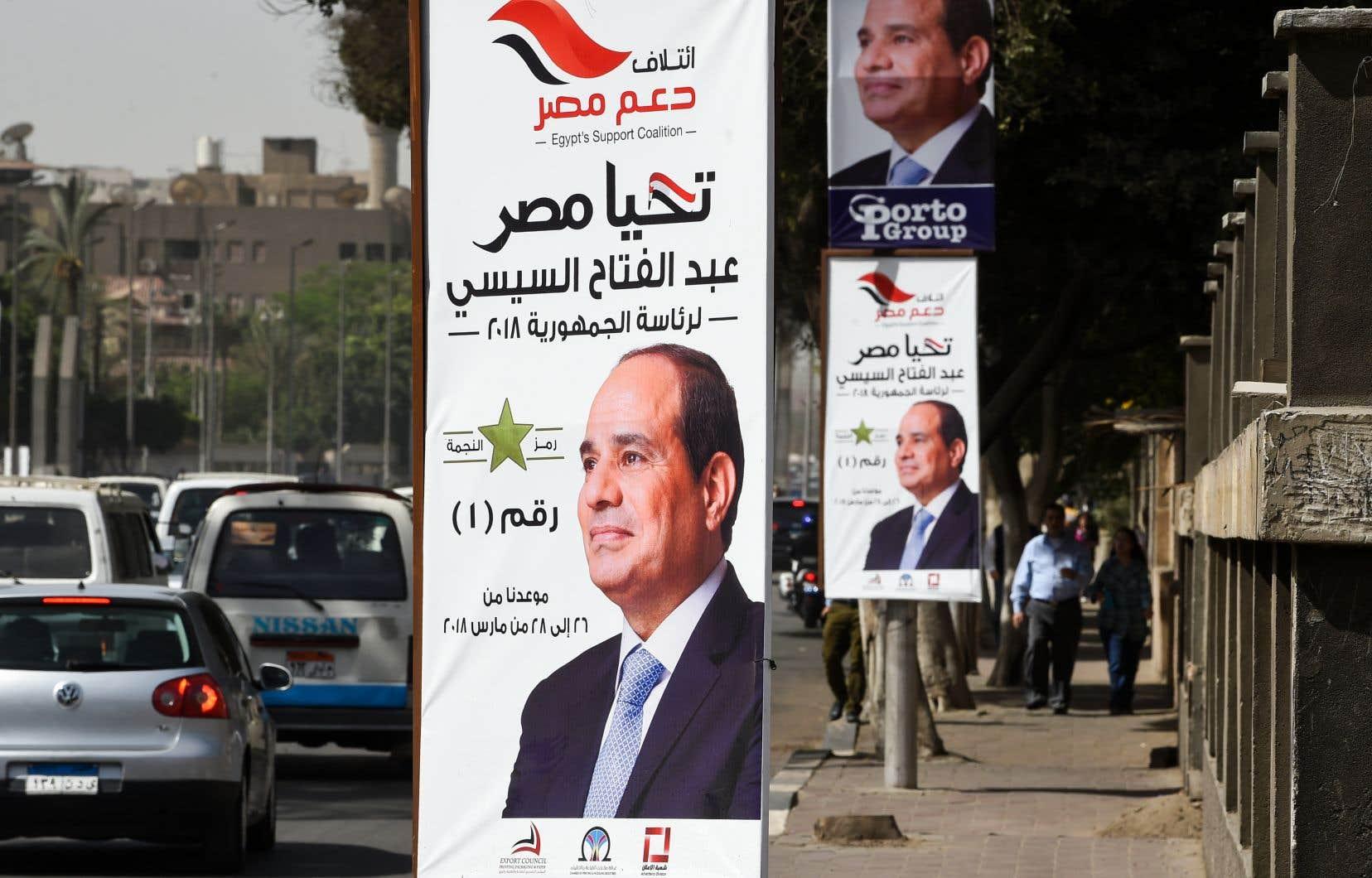 Le président Abdel Fattah al-Sissi sera reconduit sans surprise à la tête de l'Égypte, avec plus de 90% des voix.