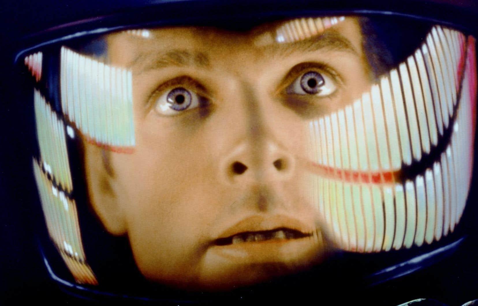 Une des images célèbres de l'acteur Keir Dullea dans «2011, l'odyssée de l'espace»
