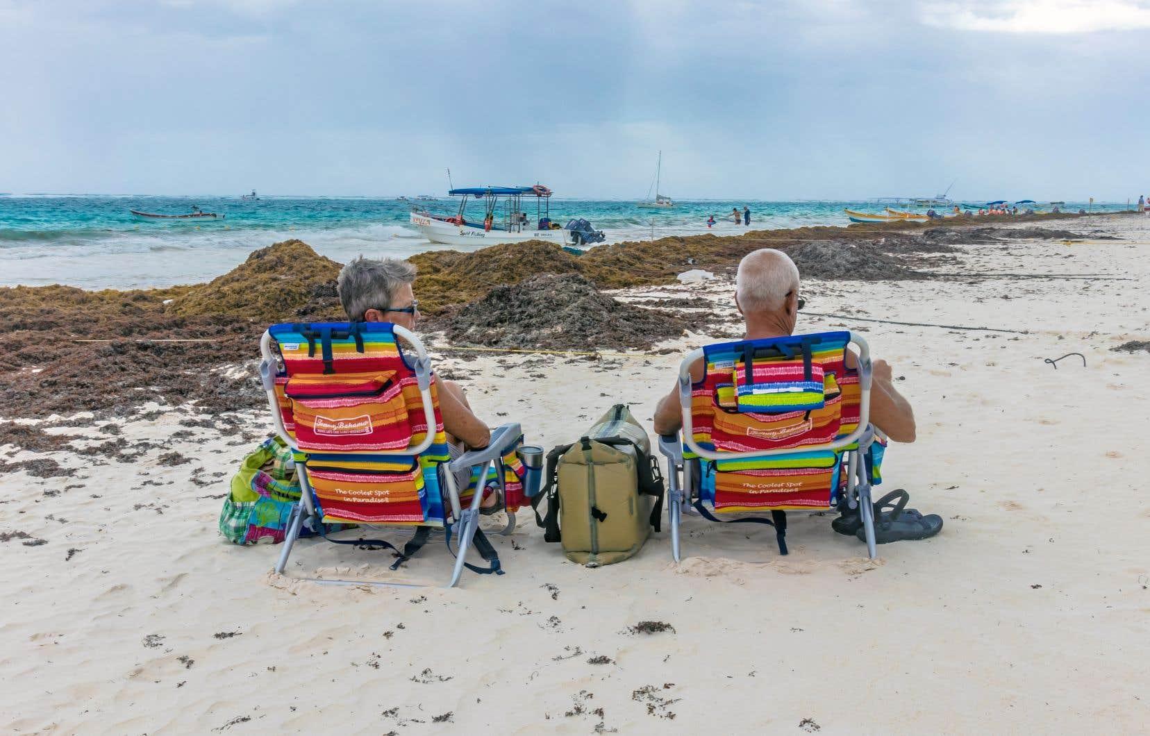 Une plage sur la Riviera Maya dans la région de Tulum, au Mexique