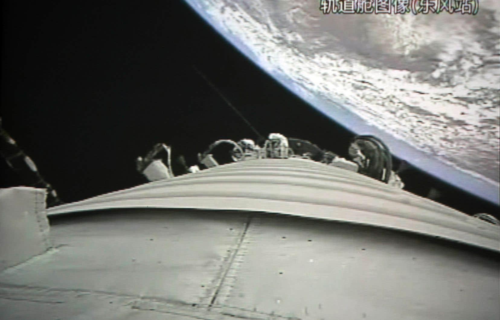 Lancée en 2011, <em>Tiangong 1</em> était la première station spatiale chinoise.