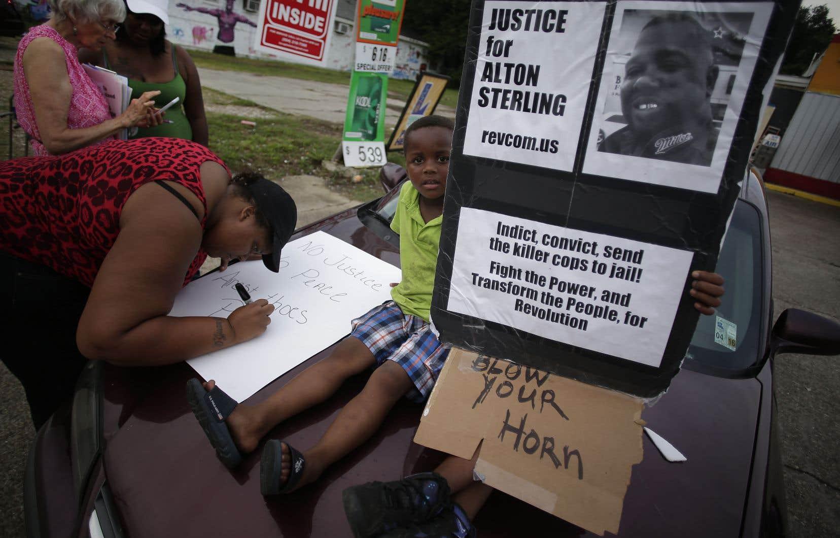 La mort d'Alton Sterling le 5juillet 2016 avait réveillé le spectre du racisme dans la police américaine.