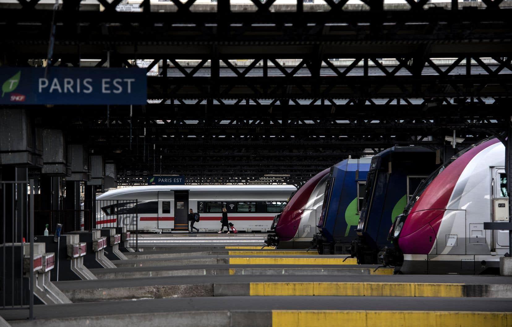 Seuls un TGVsur huit et un train régional sur cinq circulaient.