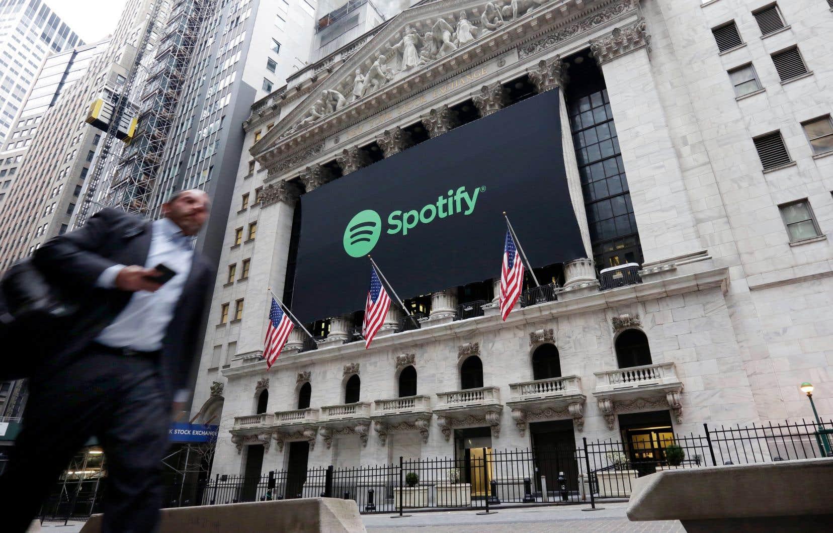 Une grande bannière a été déployée sur la façade du bâtiment de la Bourse de New York.