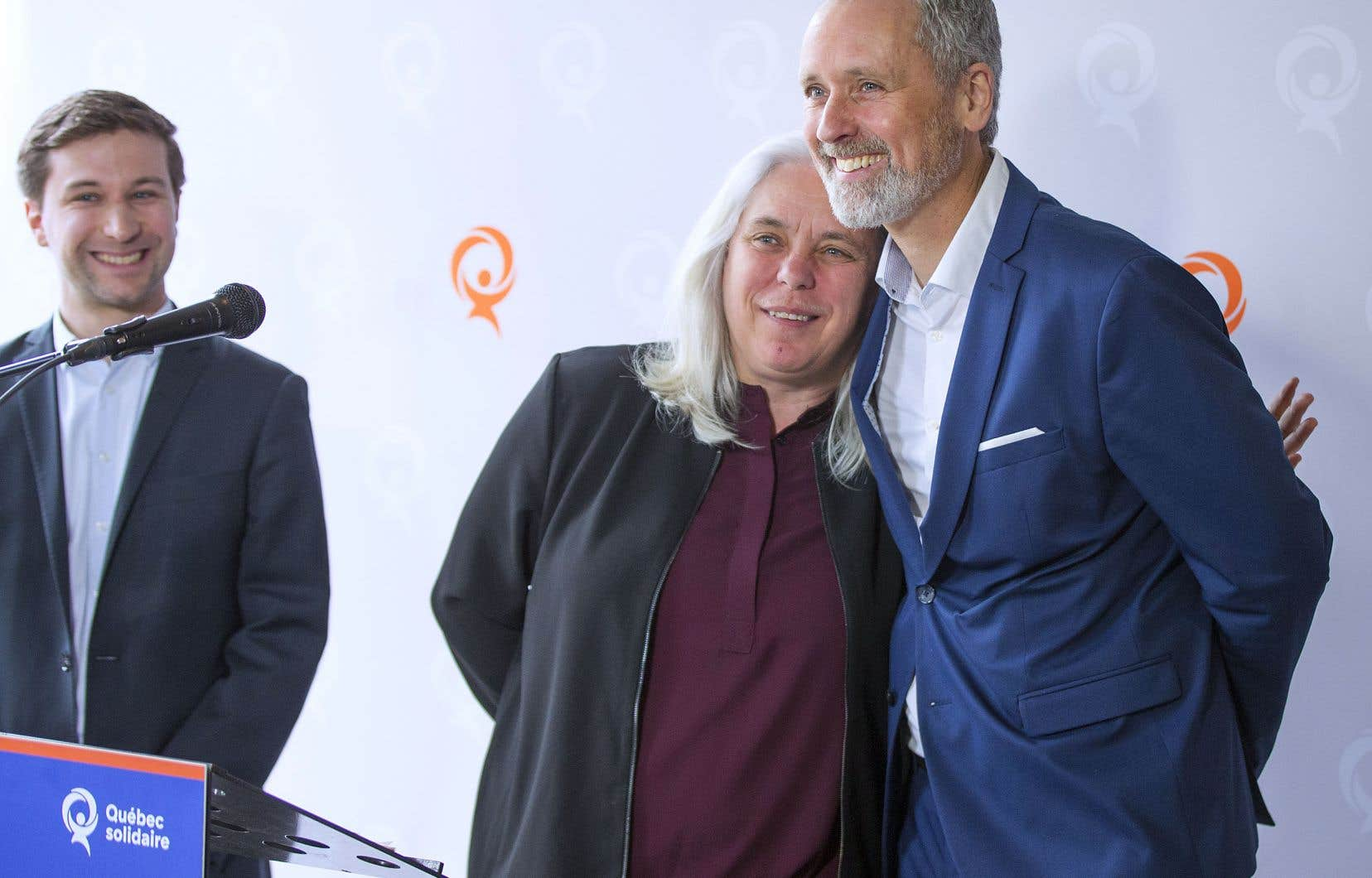 Vincent Marissal a été présenté par les deux porte-parole de Québec solidaire, Manon Massé et Gabriel Nadeau-Dubois.