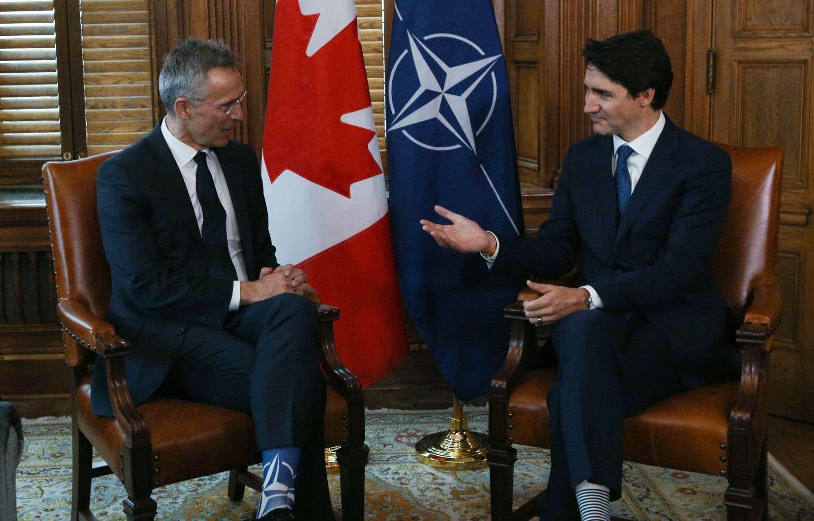 <p>Le premier ministre Trudeau a rencontré Jens Stoltenberg.</p>