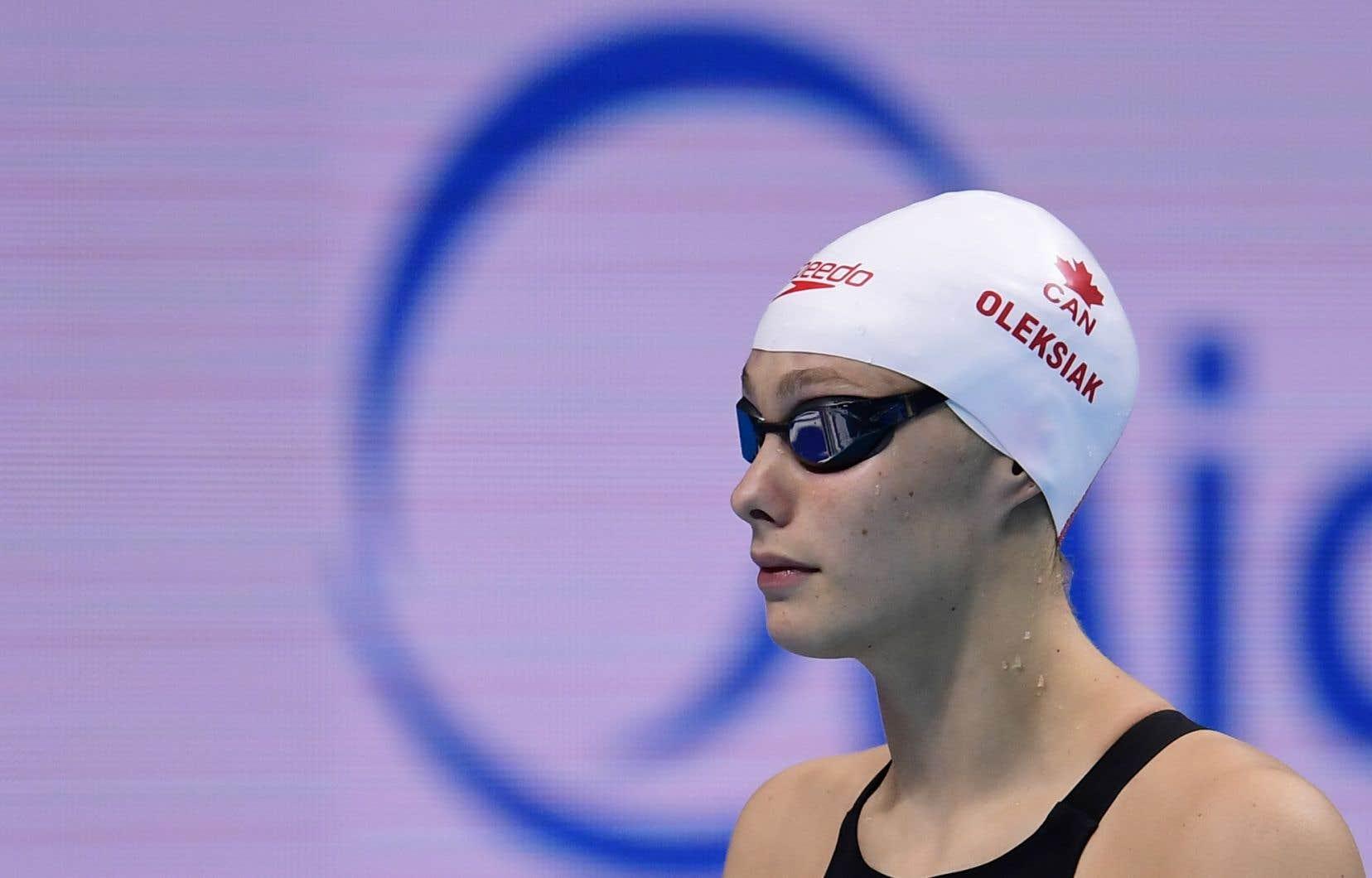 La championne olympique Penny Oleksiak