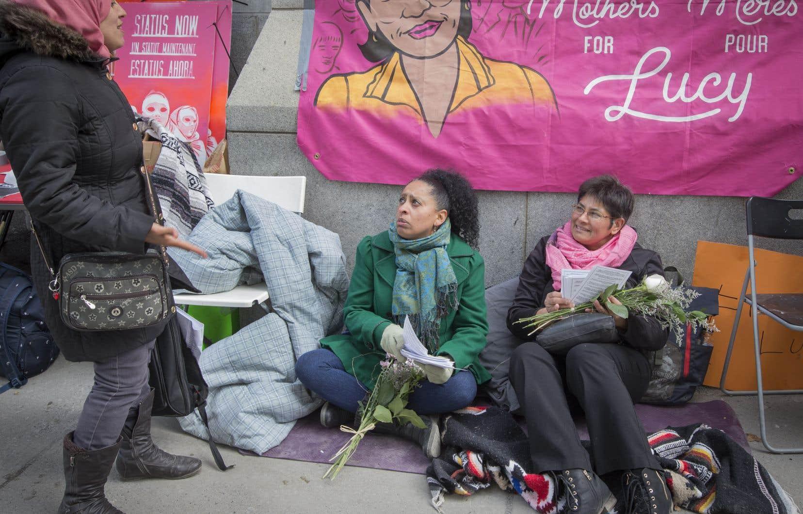 Un sit-in pour appuyer la cause de Mme Granados a été organisé au début de la semaine, à Montréal.