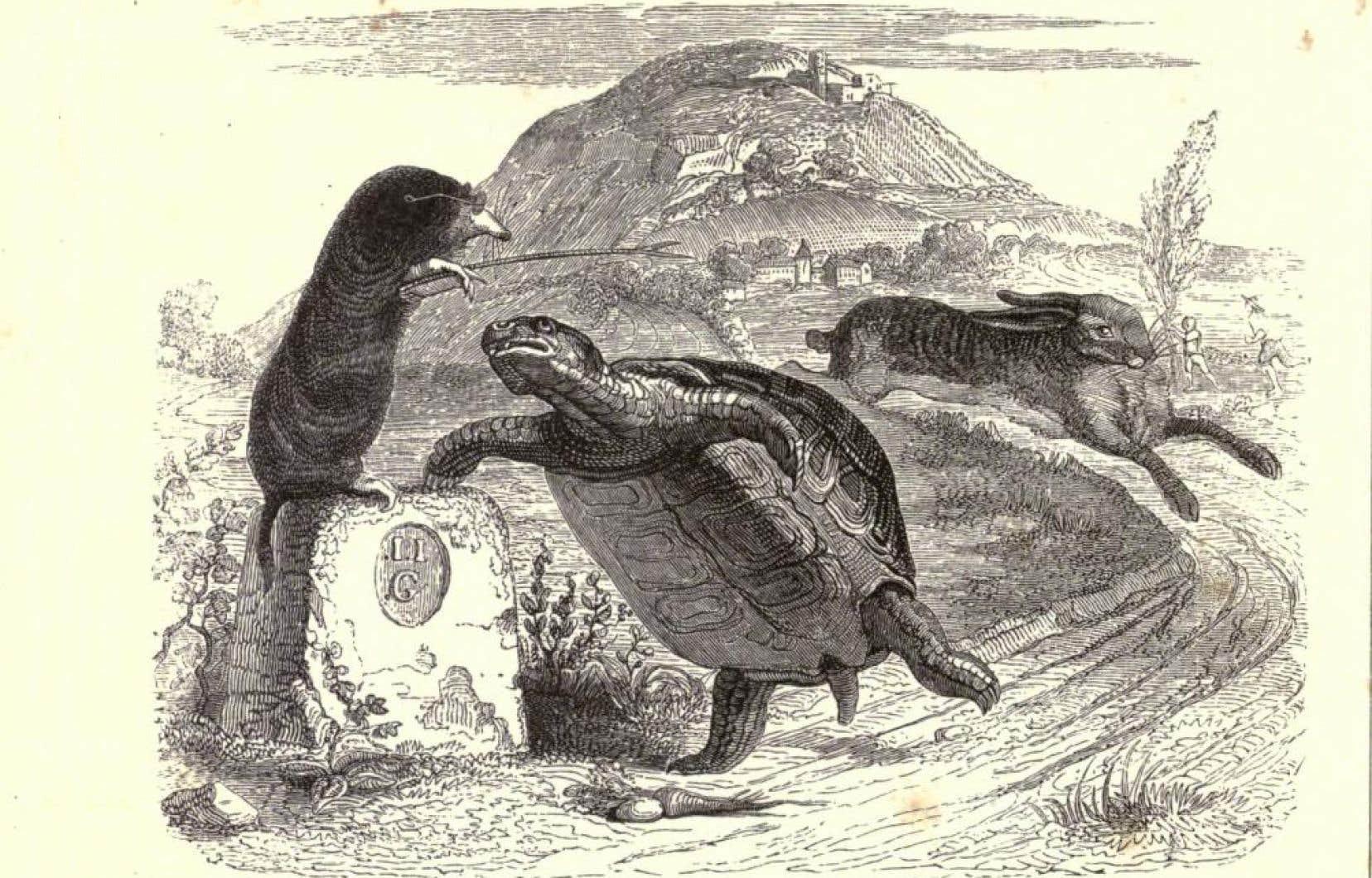 Il y a 350 ans paraissait le premier tome des c l bres - Dessin du lievre et de la tortue ...