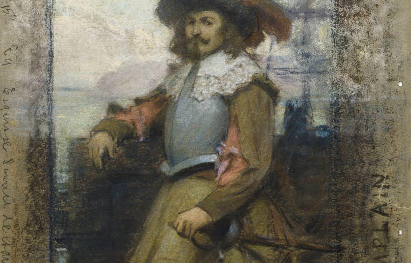 Marc-Aurèle de Foy Suzor-Coté, «Étude pour l'arrivée de Samuel de Champlain à Québec», 1908-1909