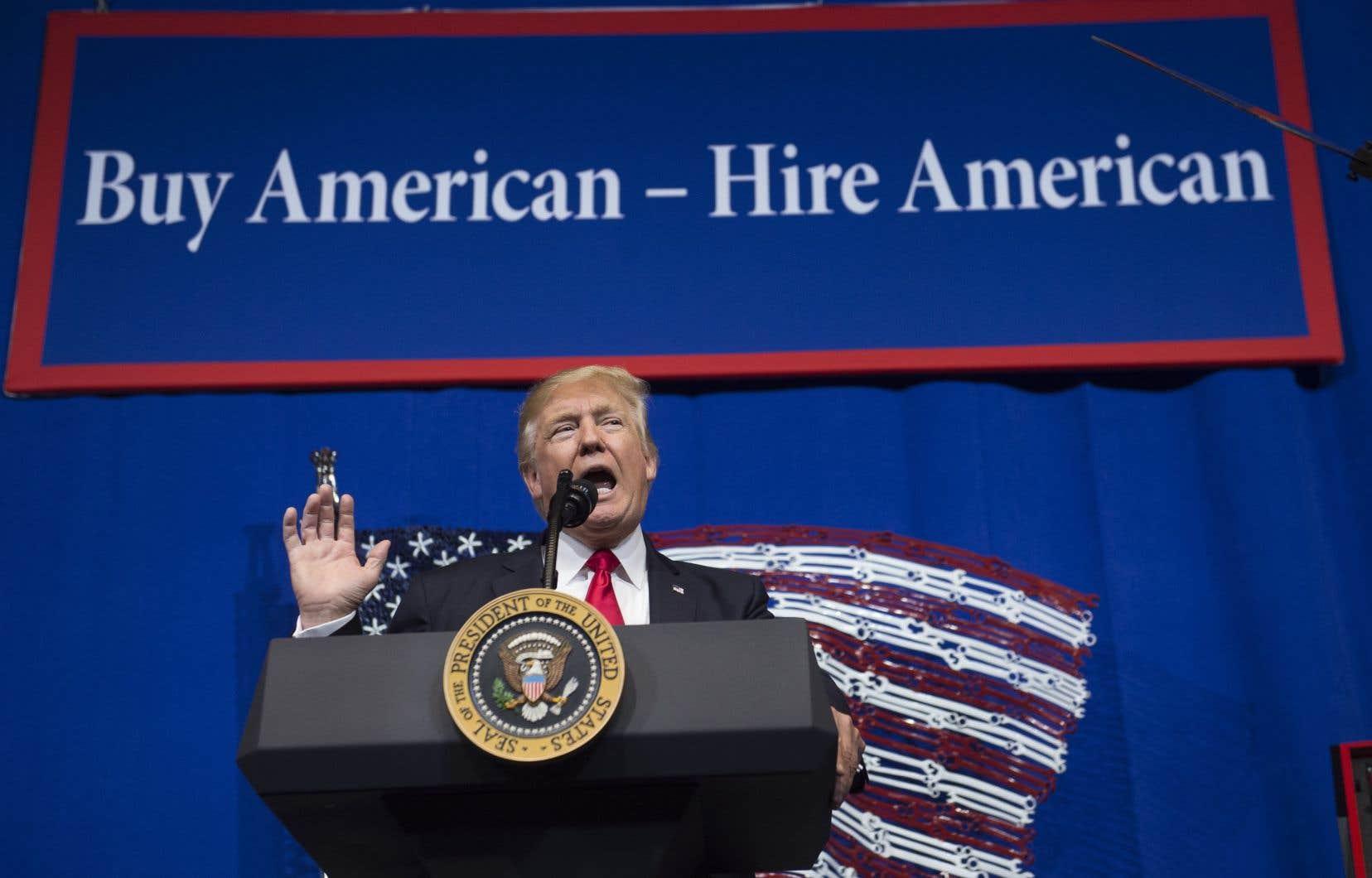 Les entreprises qui disent avoir déjà été touchées négativement «évoquent souvent la montée du protectionnisme américain» promu par le président Donald Trump.