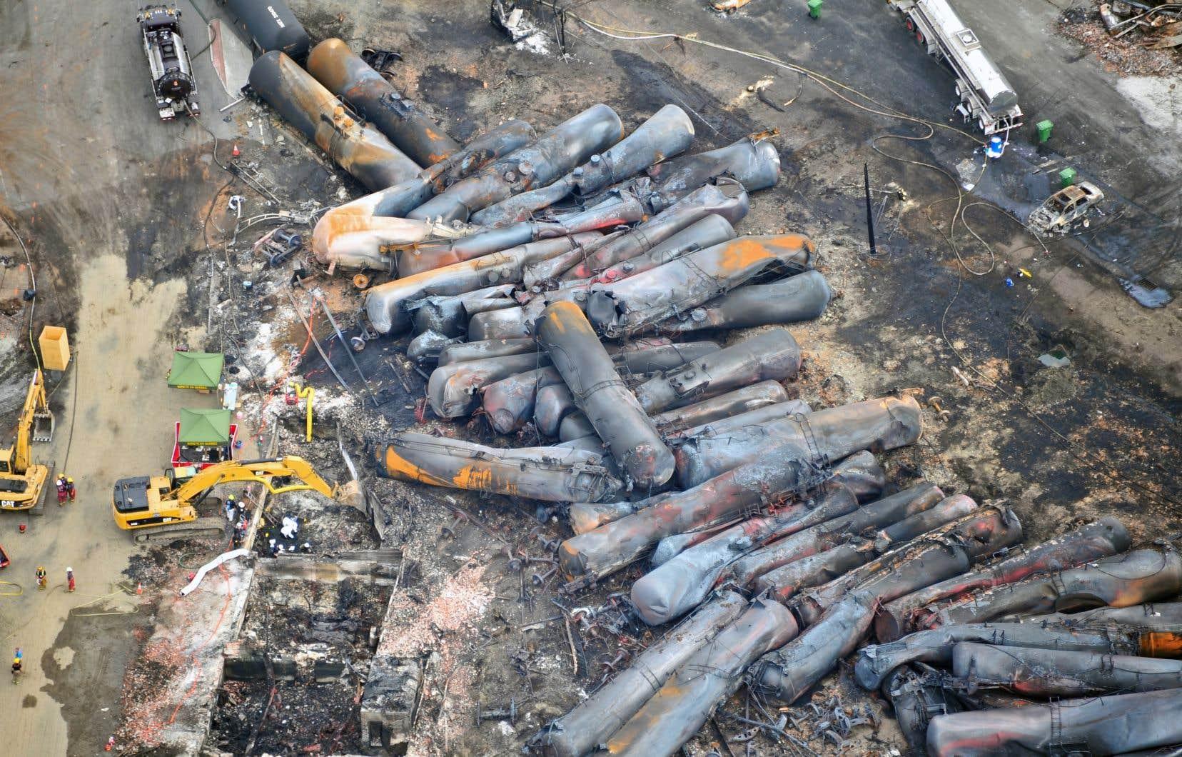 Le jour du drame,47 personnes sont mortes et le centre-ville de Lac-Mégantic a été anéanti.