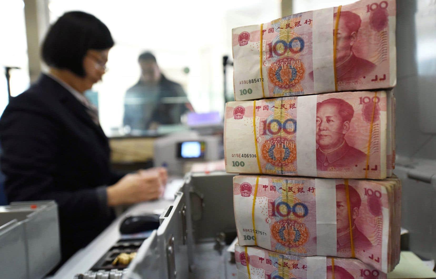 En 2016, la banque centrale de Chine avait cédé 200milliards de dollars de bons du Trésor en quelques mois pour tâcher d'enrayer une forte glissade du yuan.