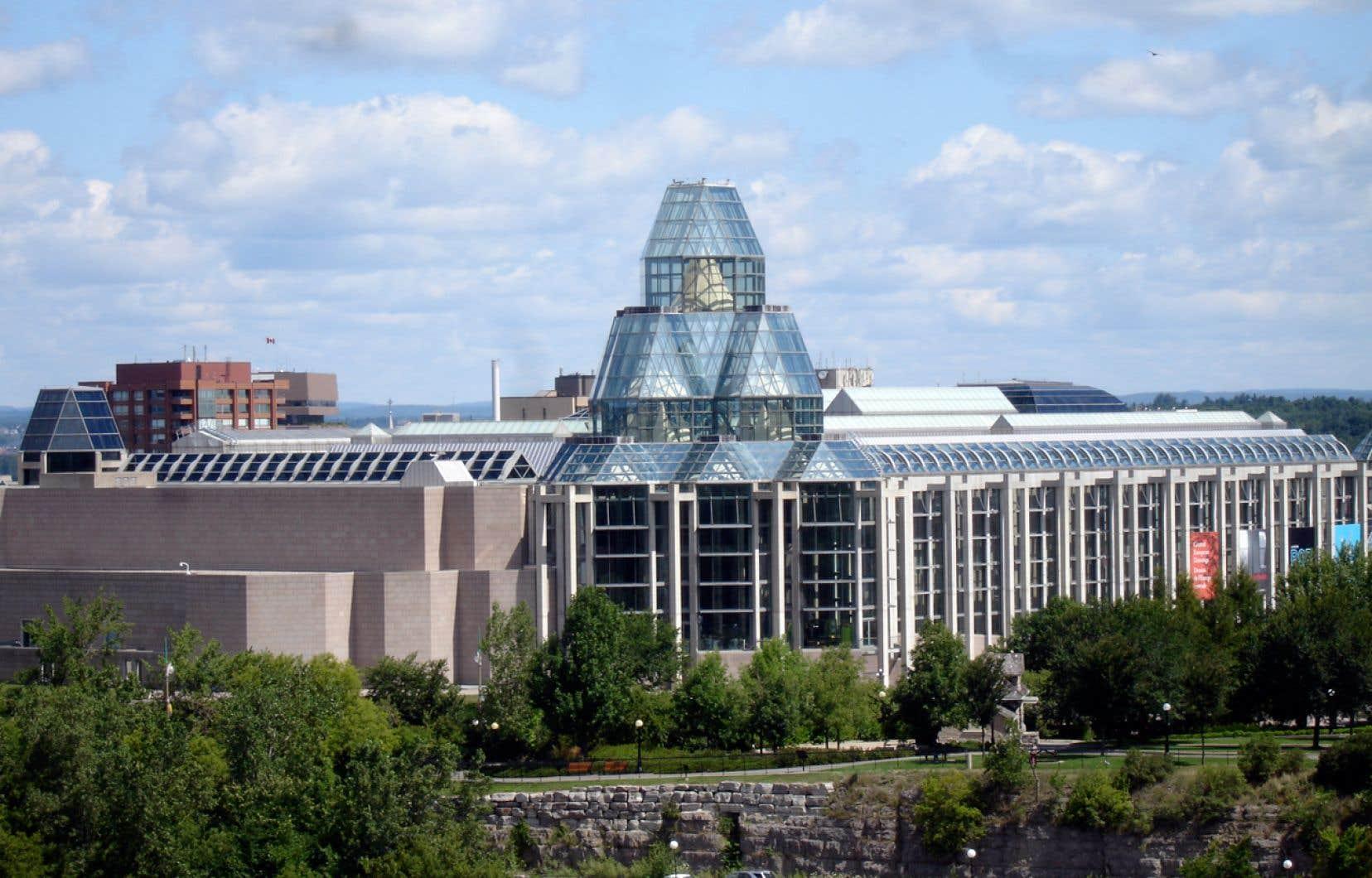 Vue surle Musée des beaux-arts du Canada, à Ottawa