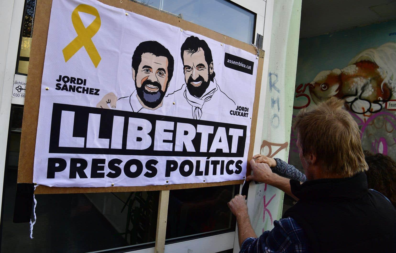 L'indépendantiste catalan Jordi Sanchez est en «détention provisoire» depuis la tentative avortée de sécession d'octobre.