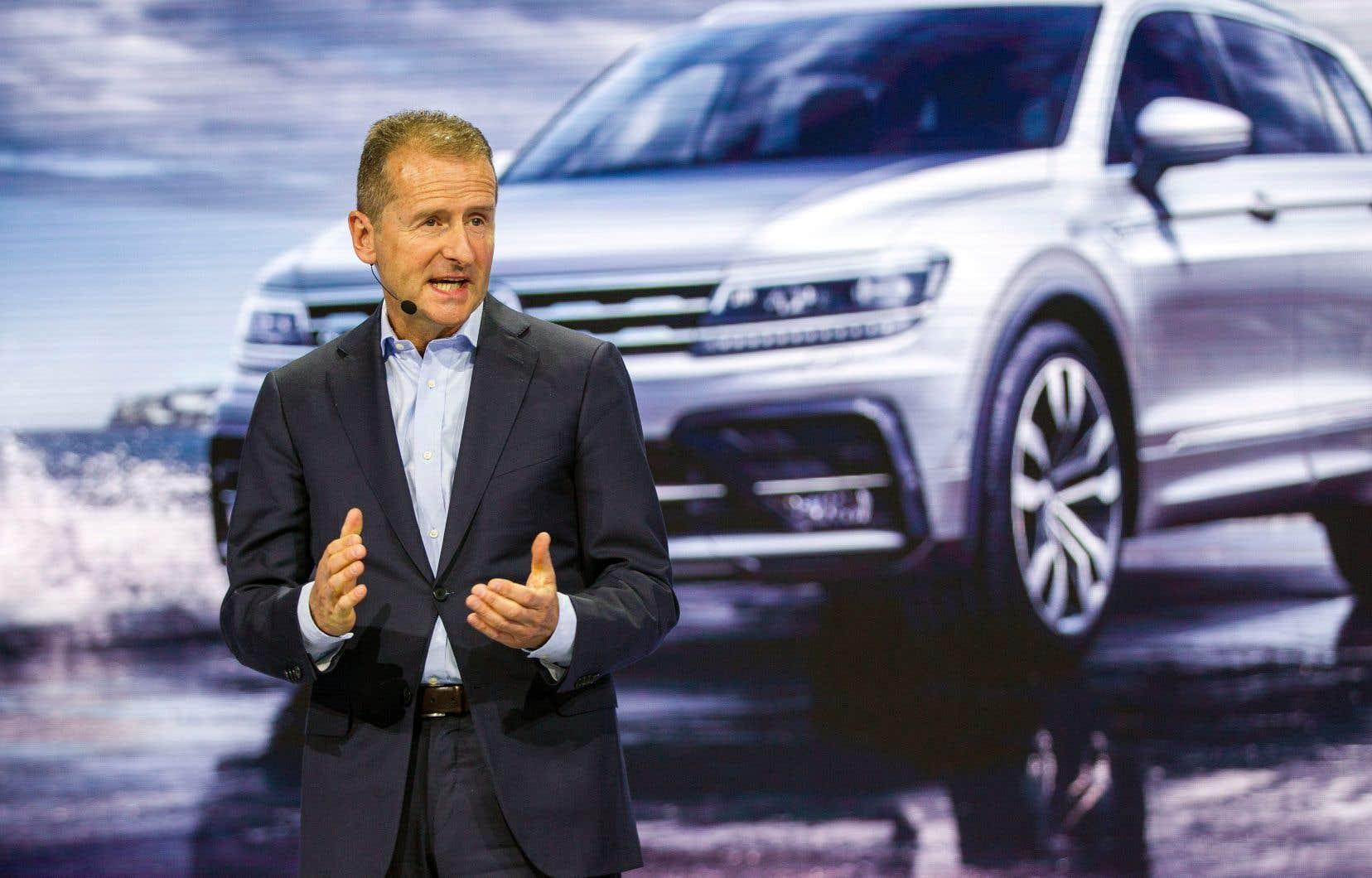 Herbert Diess a été nommé à la tête du géant allemand de l'automobile pour tourner la page du vaste scandale du diesel qui éclabousse le secteur depuis 2015.