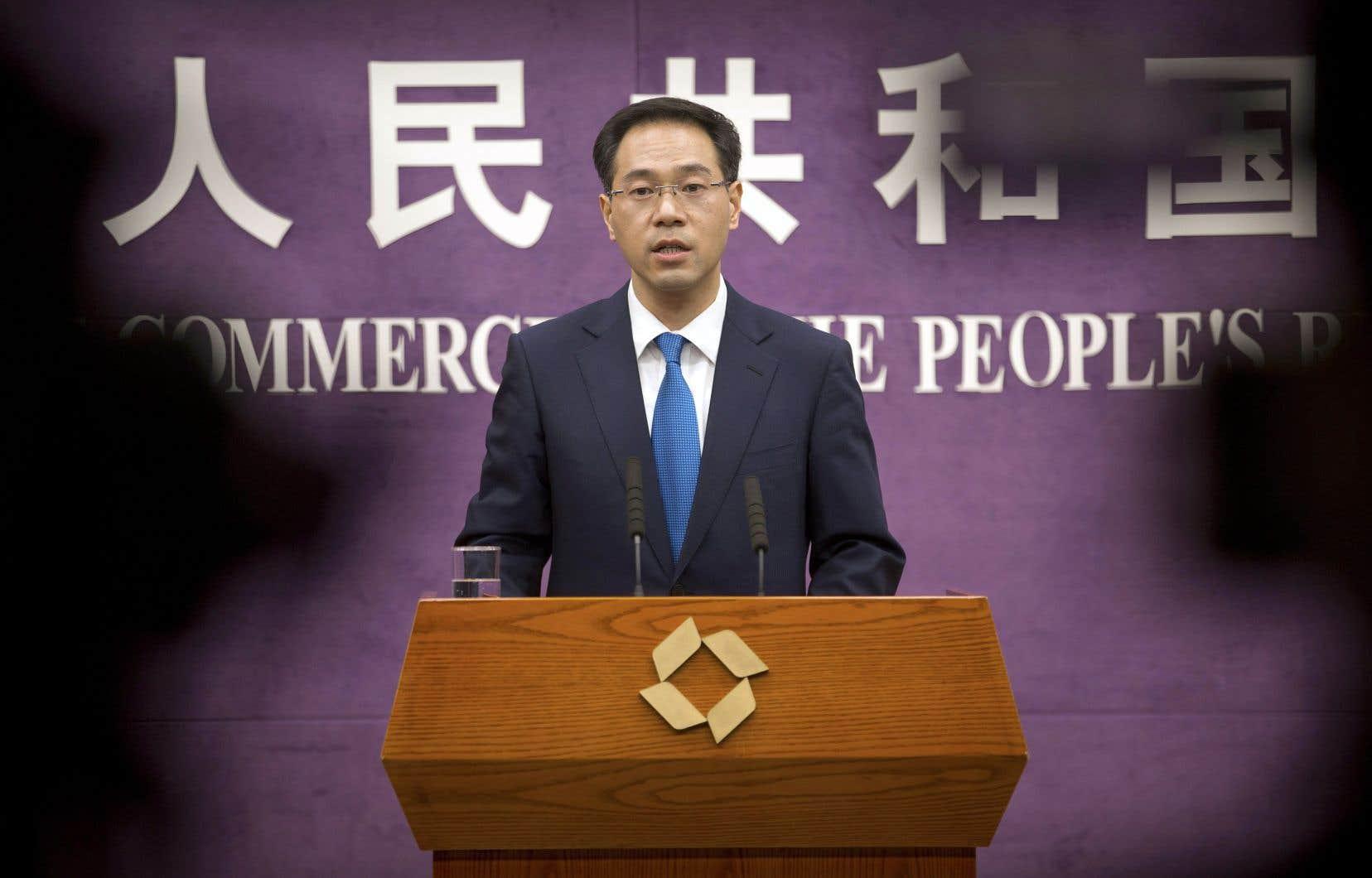 Le porte-parole du ministère chinois du Commerce, Gao Feng, a fustigé le «protectionnisme» de Washington.
