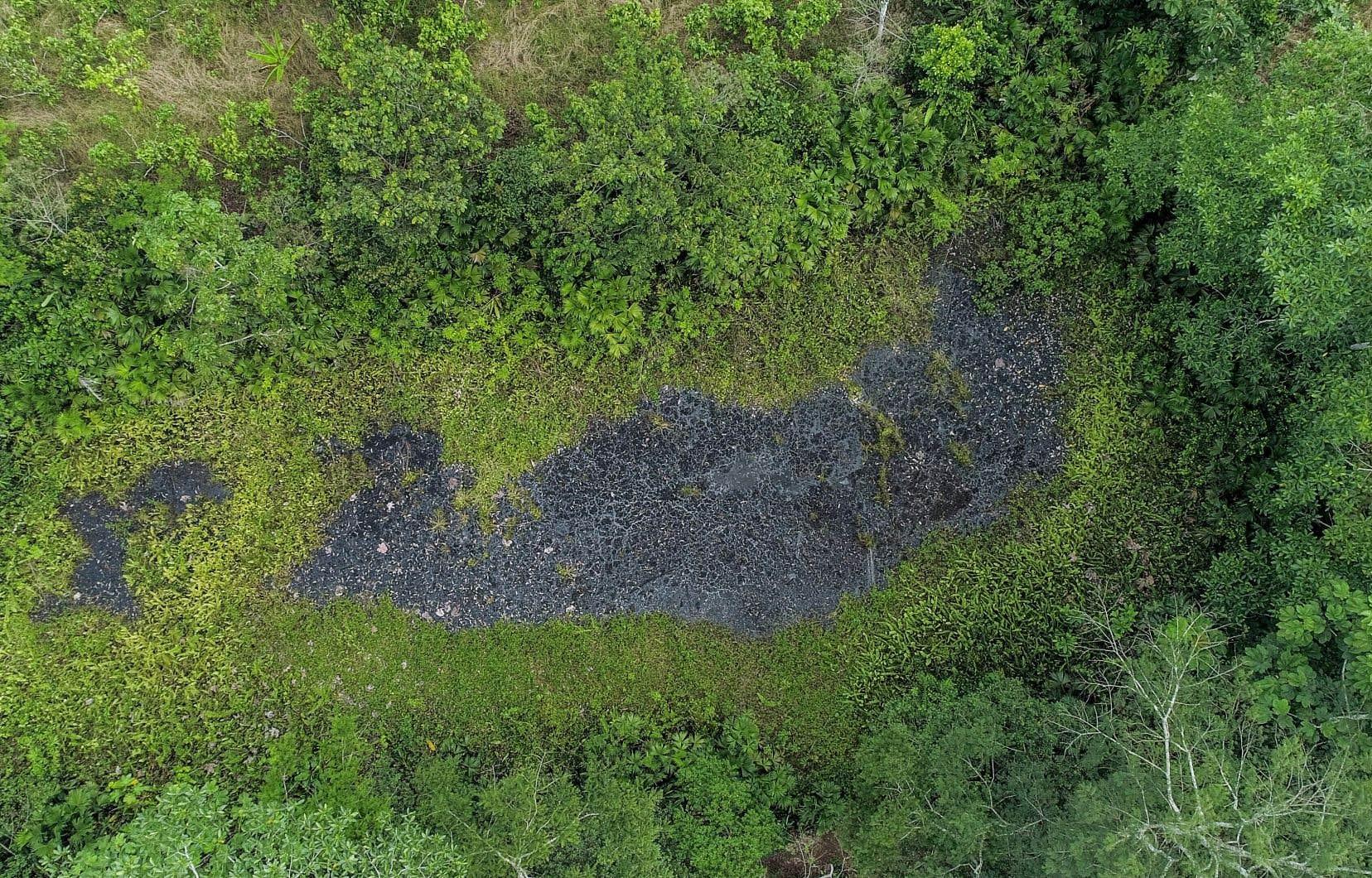 Un site portant les traces d'un puits de pétrole autrefois exploité par Chevron à Shushufindi, en septembre dernier. Les plaignants estiment que leurs rivières ont été endommagées par la pétrolière de 1972 à 1990.