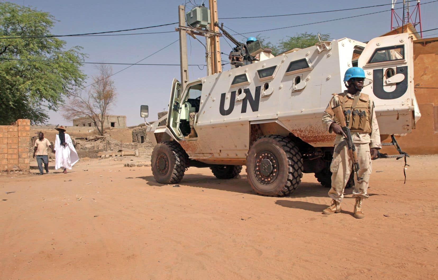 Des soldats de la mission de l'ONU au Mali, à Tombouctou, en septembre 2016