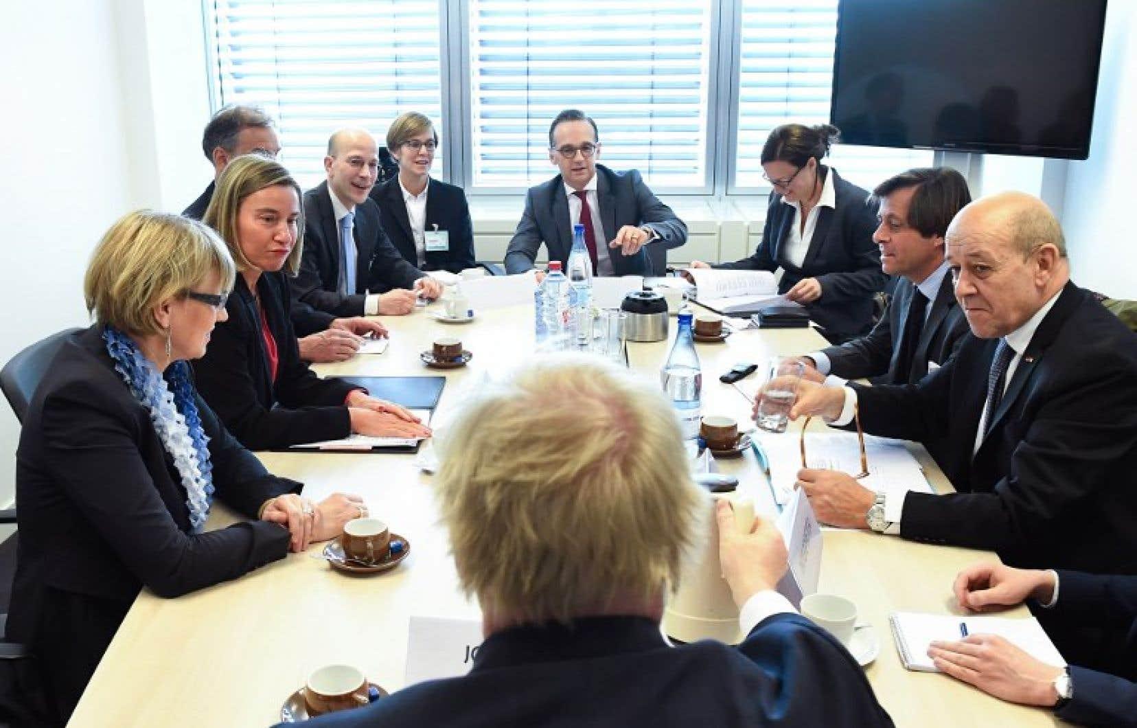 Les ministres des Affaires étrangères de l'UE sont réunis lundi à Luxembourg.