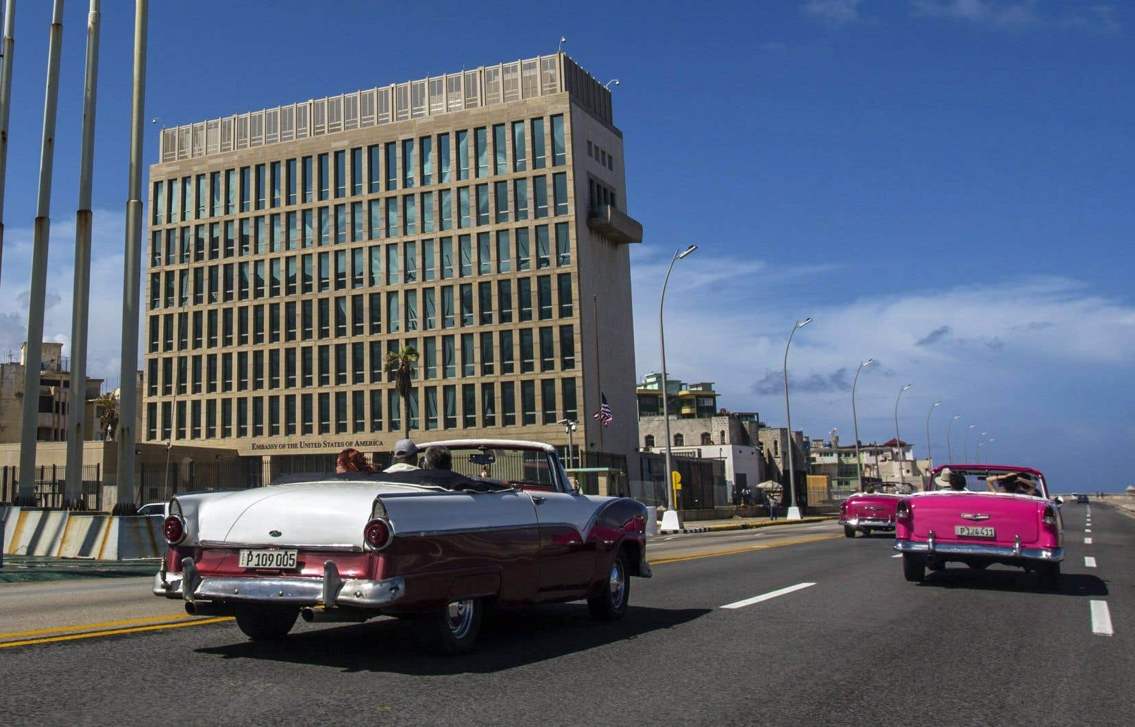 L'ambassade des États-Unis à La Havane. Vingt-quatre diplomates américains à Cuba ont subi des malaises similaires, en 2017.