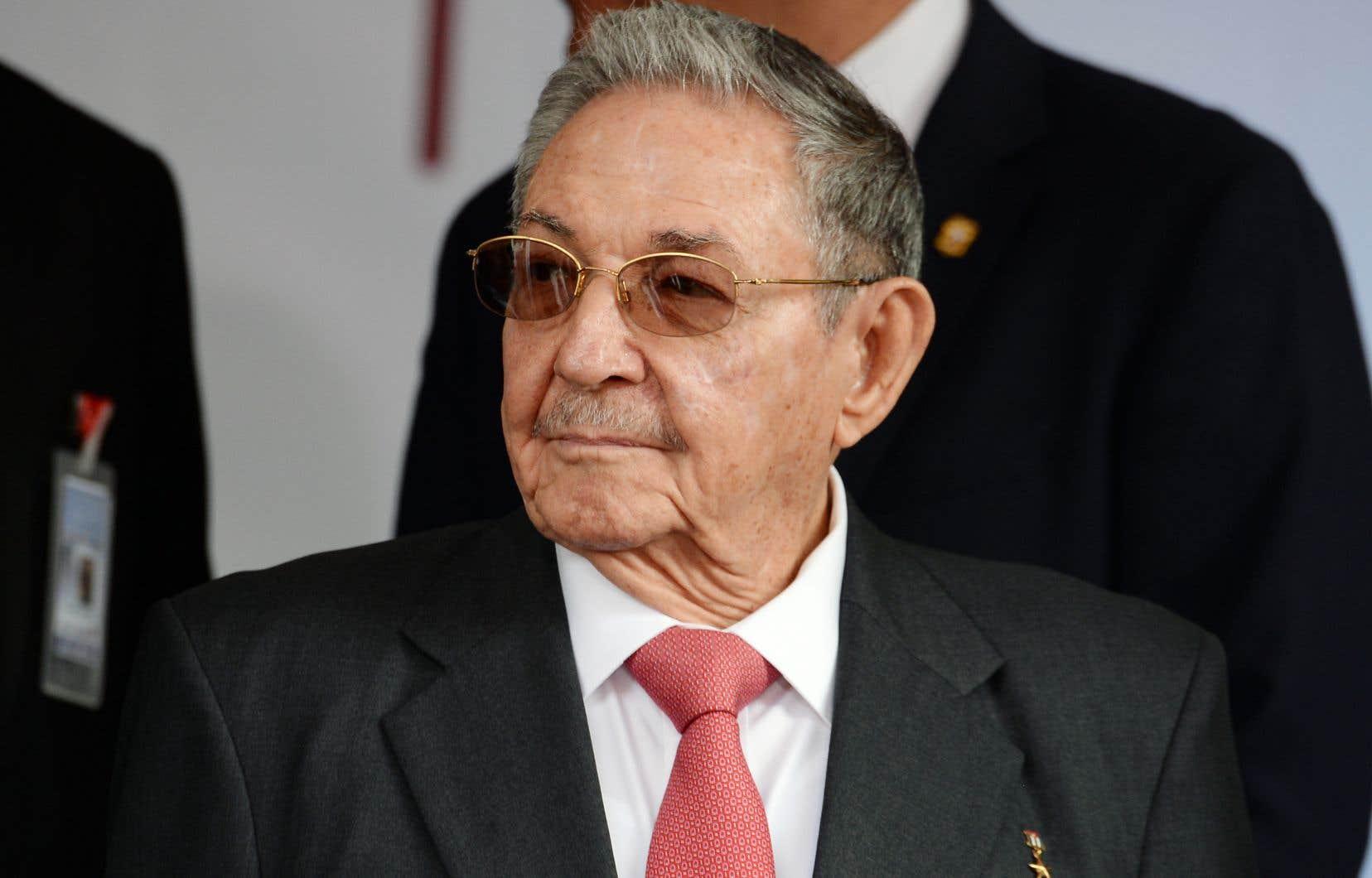 Le président cubain, Raúl Castro