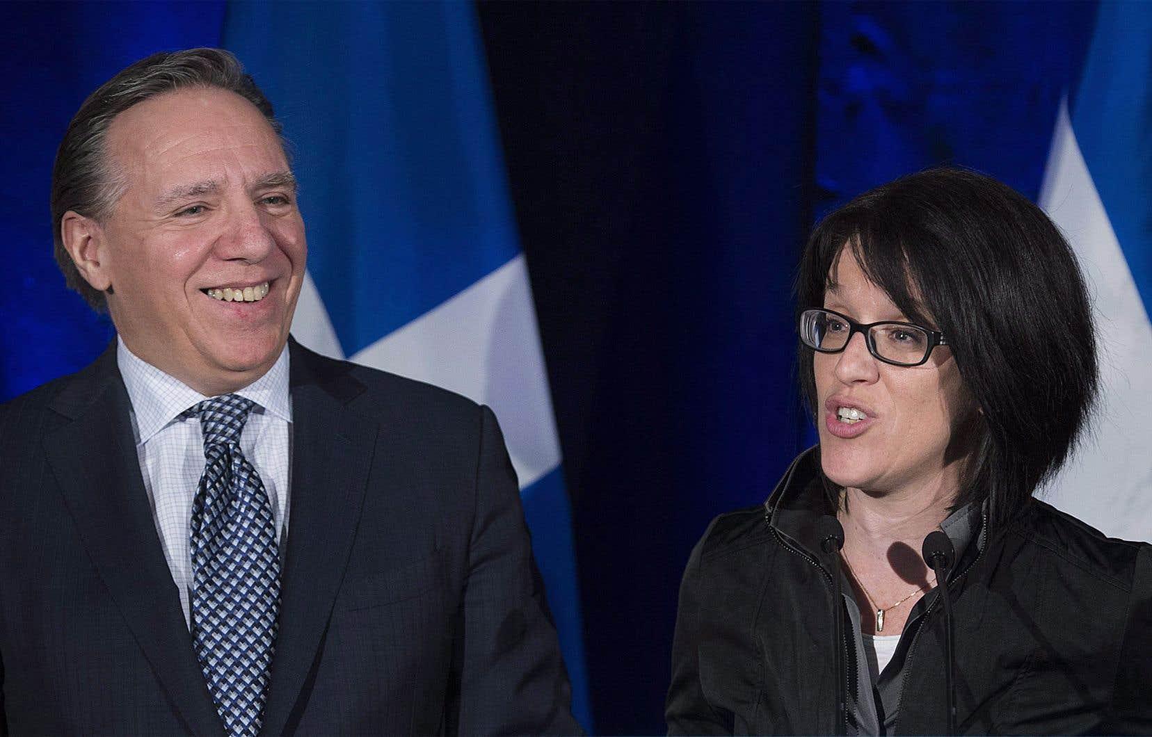 L'ex-procureure Sonia LeBel s'est jointe à la CAQ en février 2017, à titre de directrice adjointe du cabinet de François Legault.