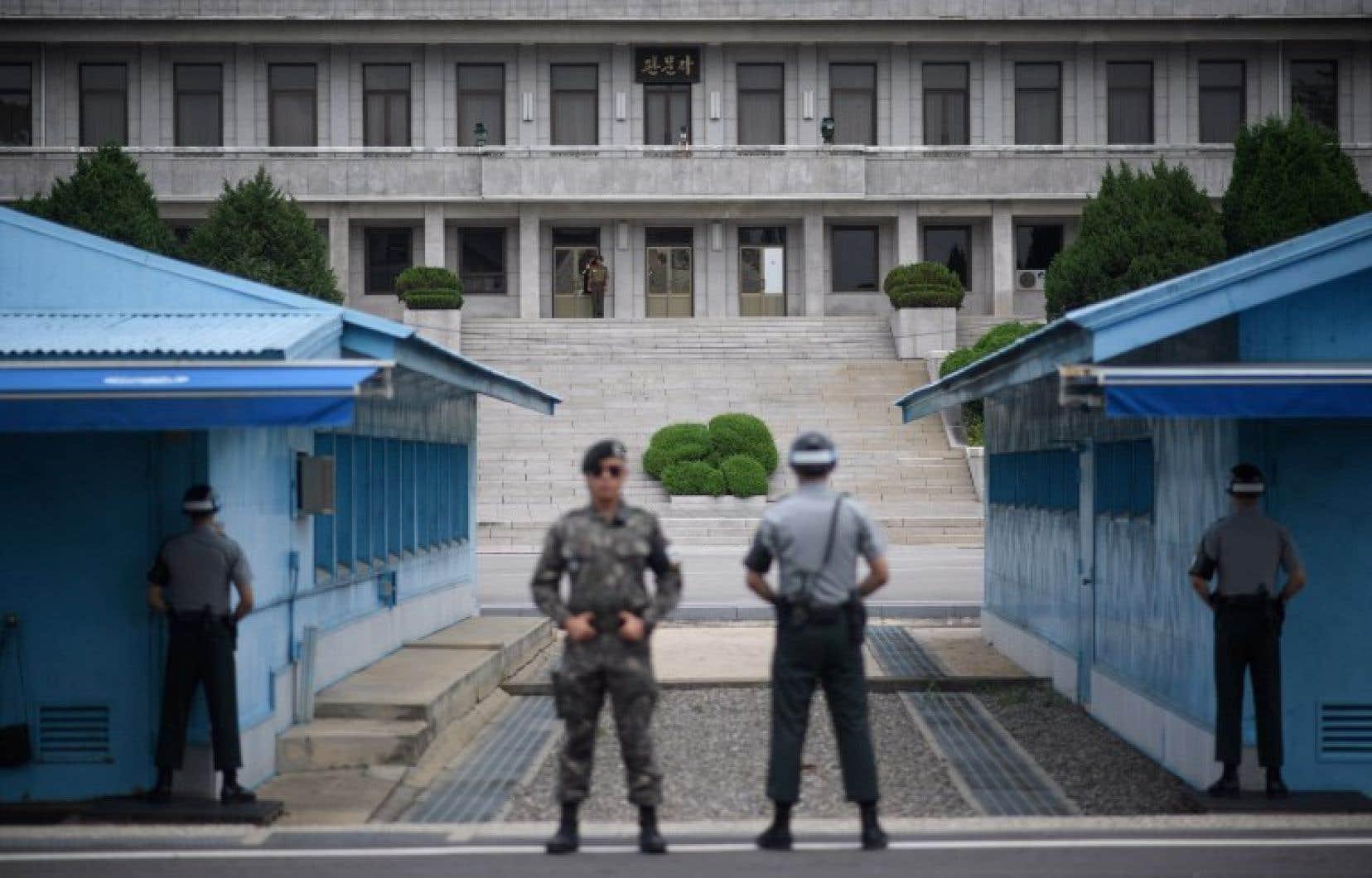 Des soldats sud-coréens déployés à la frontière avec la Corée du Nord